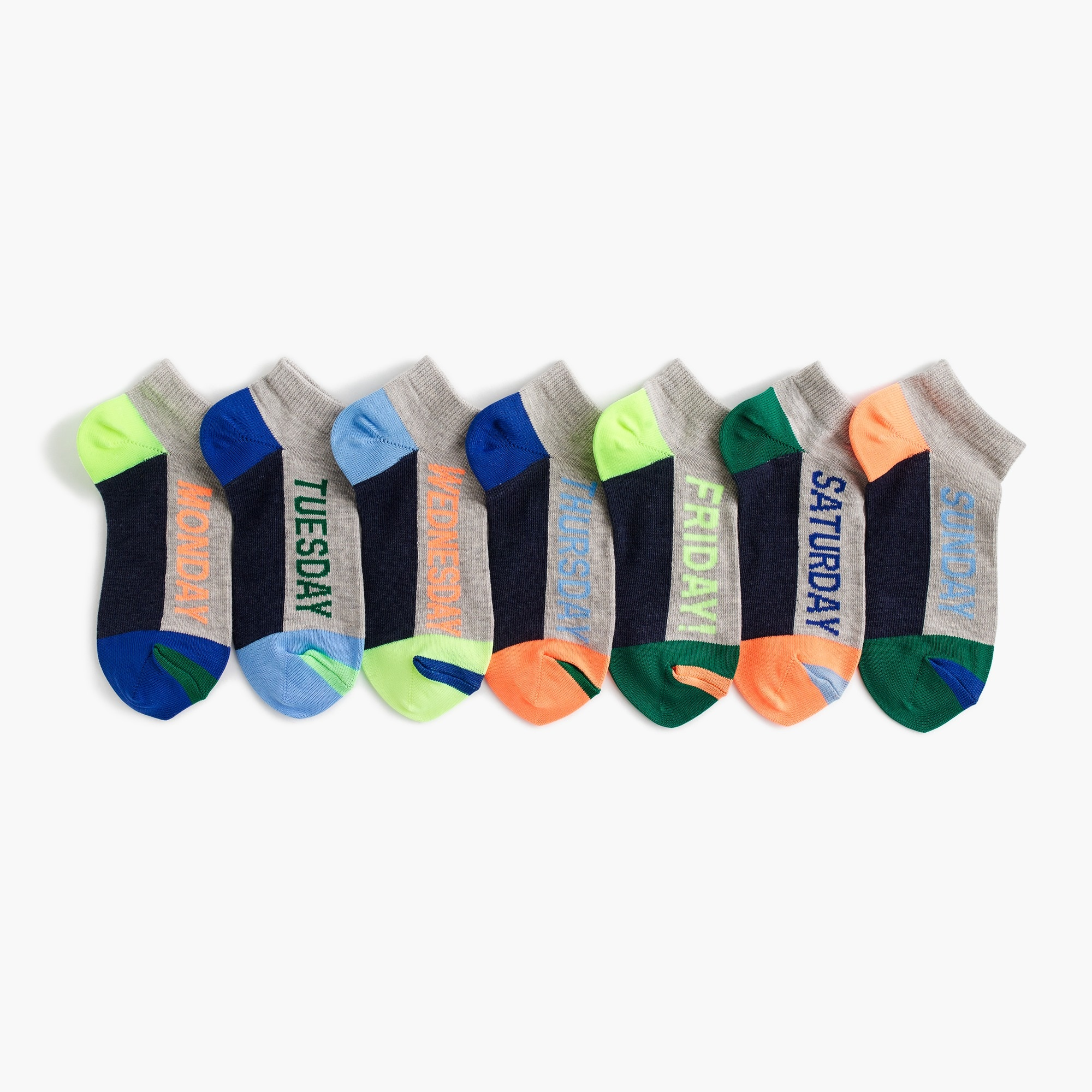 Boys' days of the week socks seven-pack boy accessories c