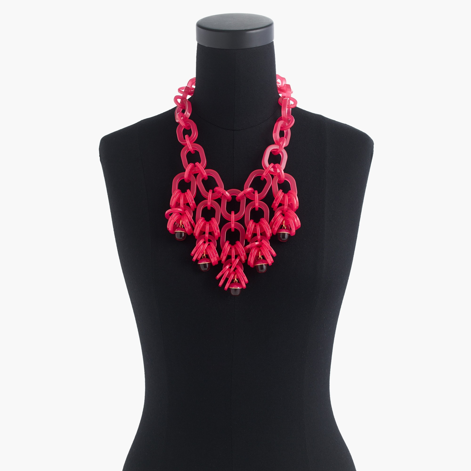 Translucent link statement necklace