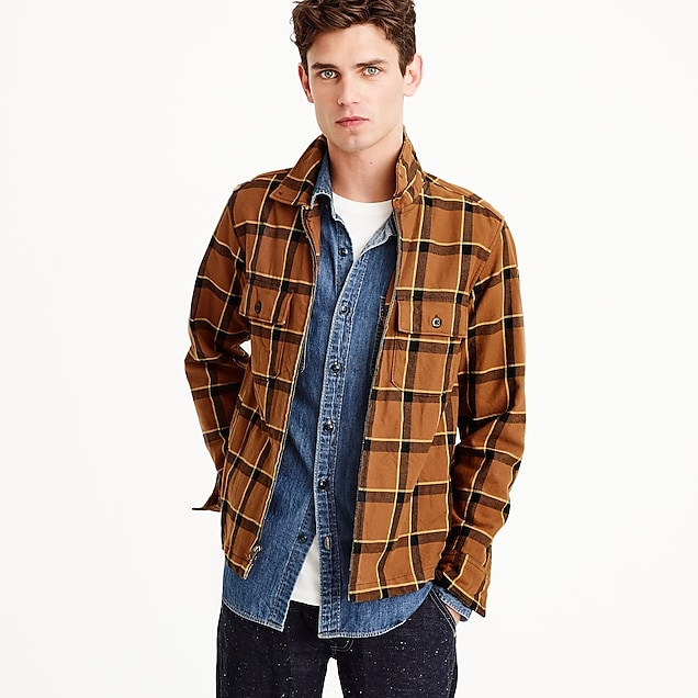 Wallace & Barnes full-zip flannel overshirt