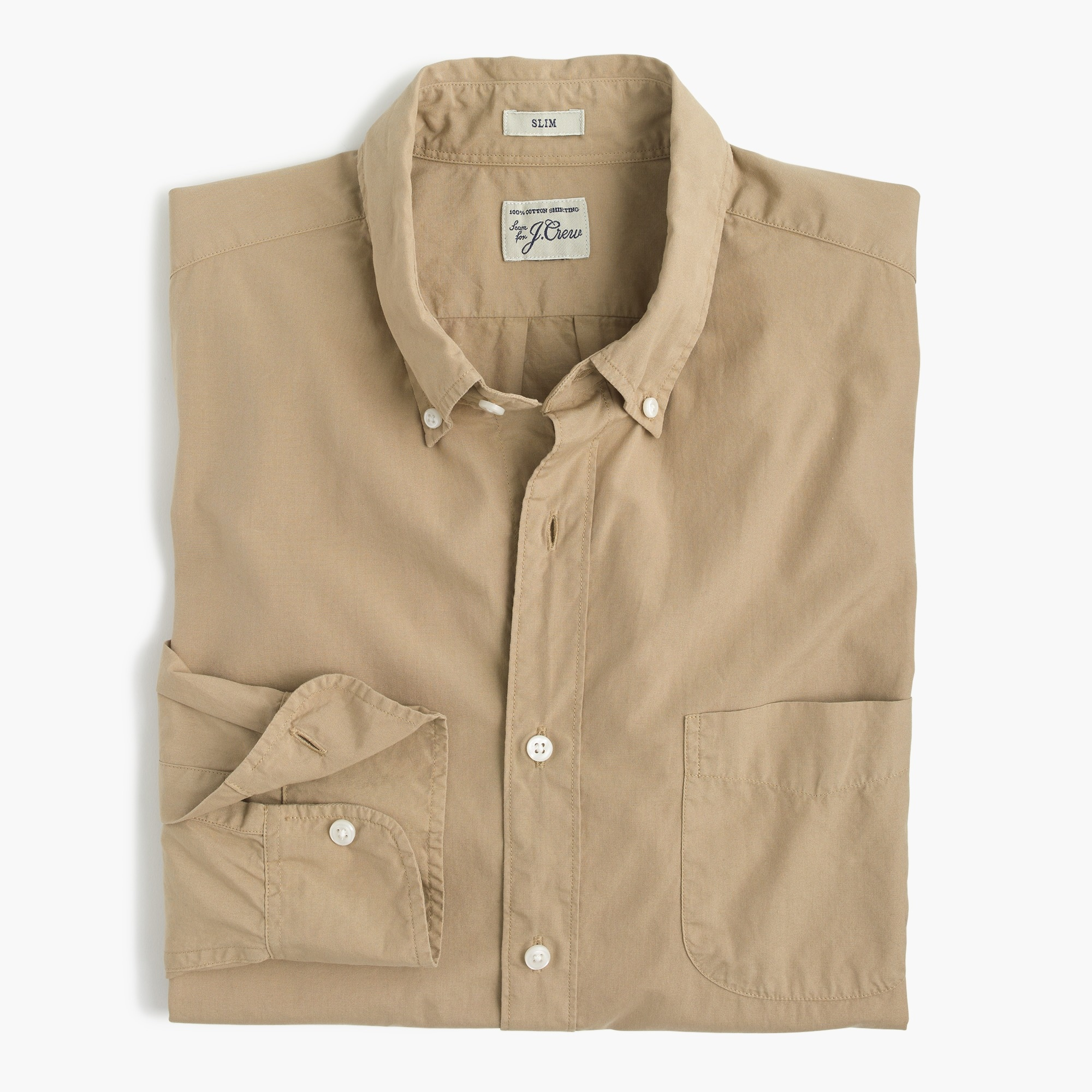 Slim garment-dyed shirt