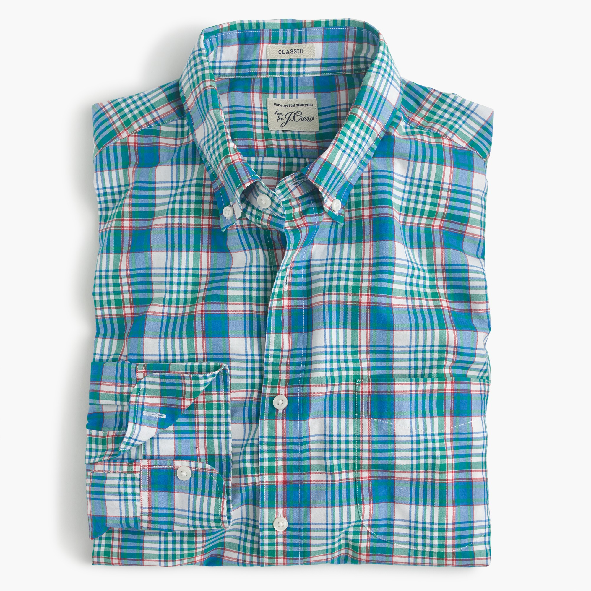 secret wash shirt in light blue plaid : men dress shirts