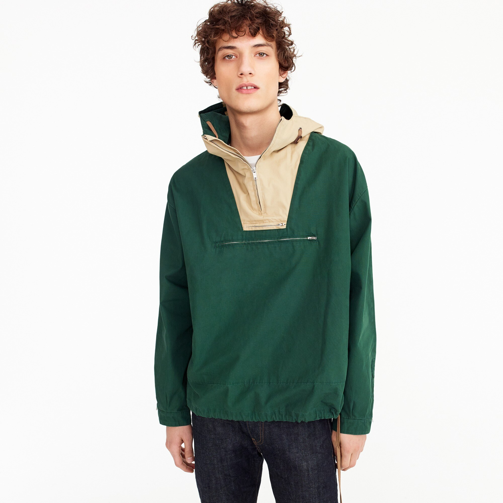mens Unisex 1989 side-zip cotton anorak