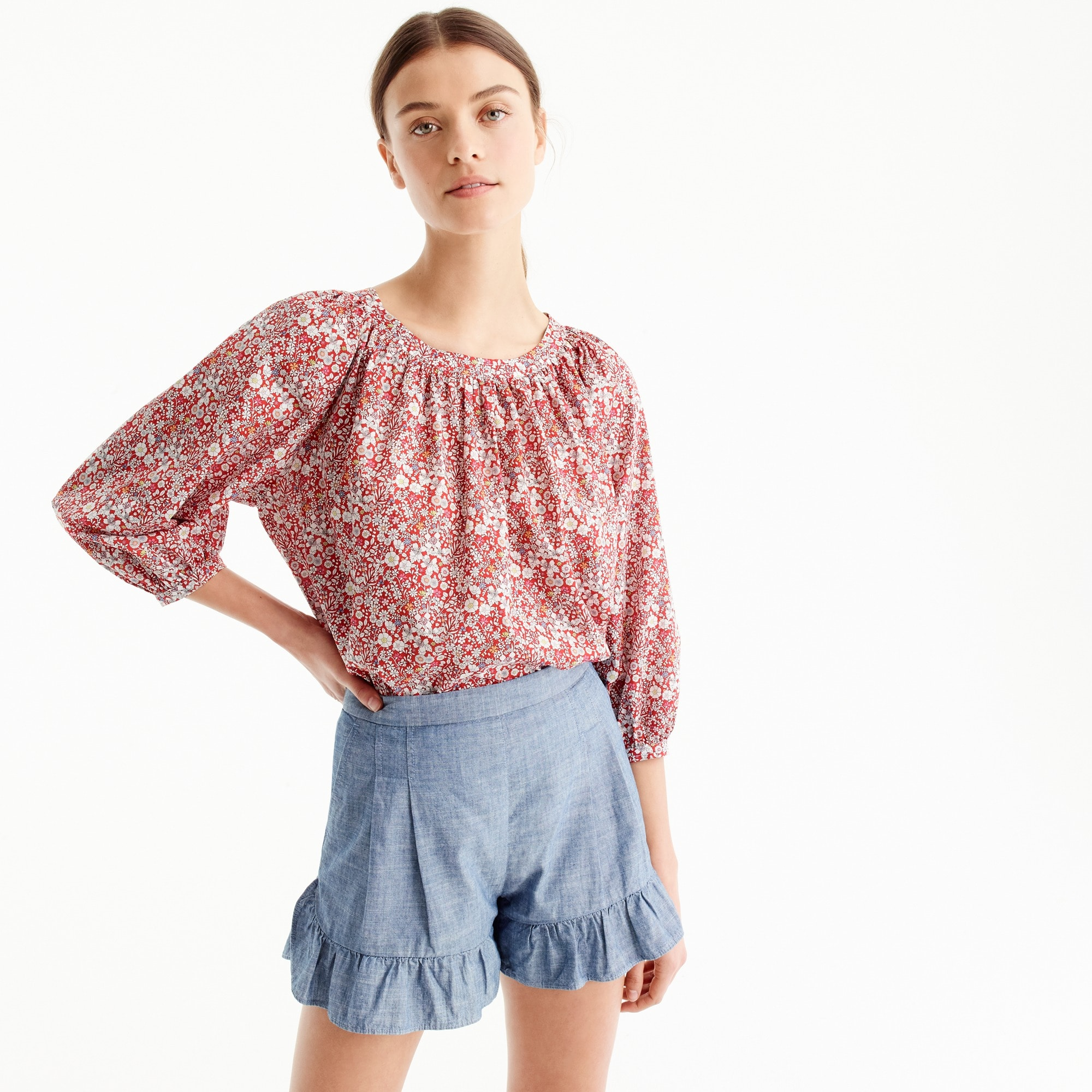 The perfect top in Liberty® June's Meadow floral