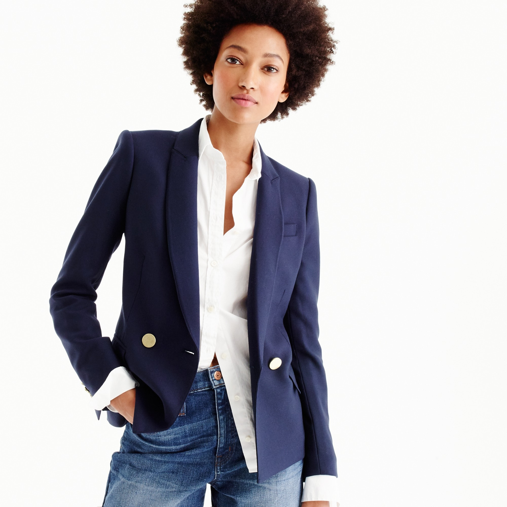 tall dover blazer in italian wool : women blazers & outerwear
