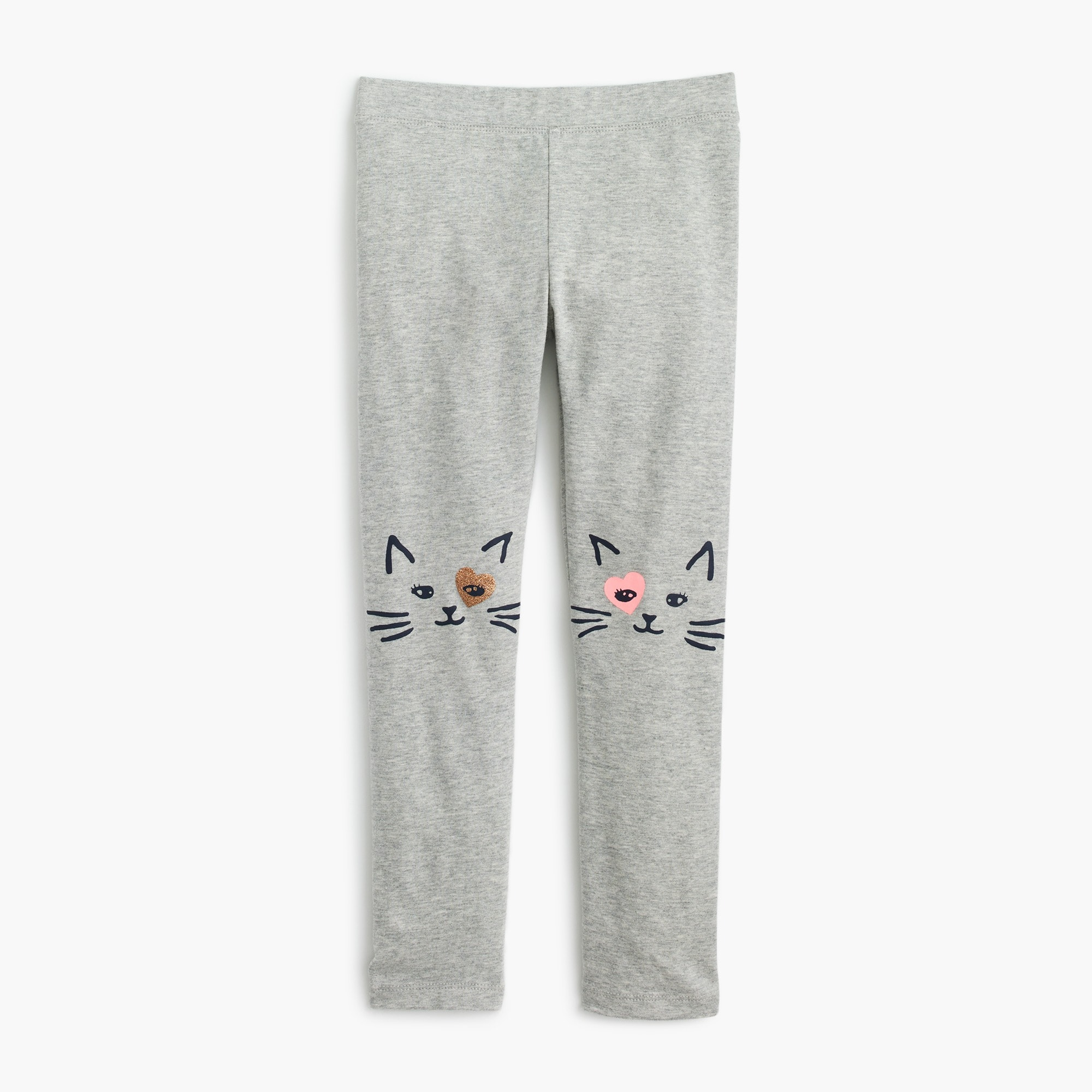 girls' everyday leggings with kitten knees : girl pants