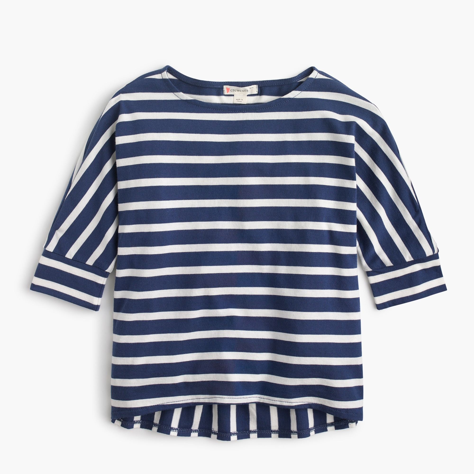 Girls' mixed-stripe shirt