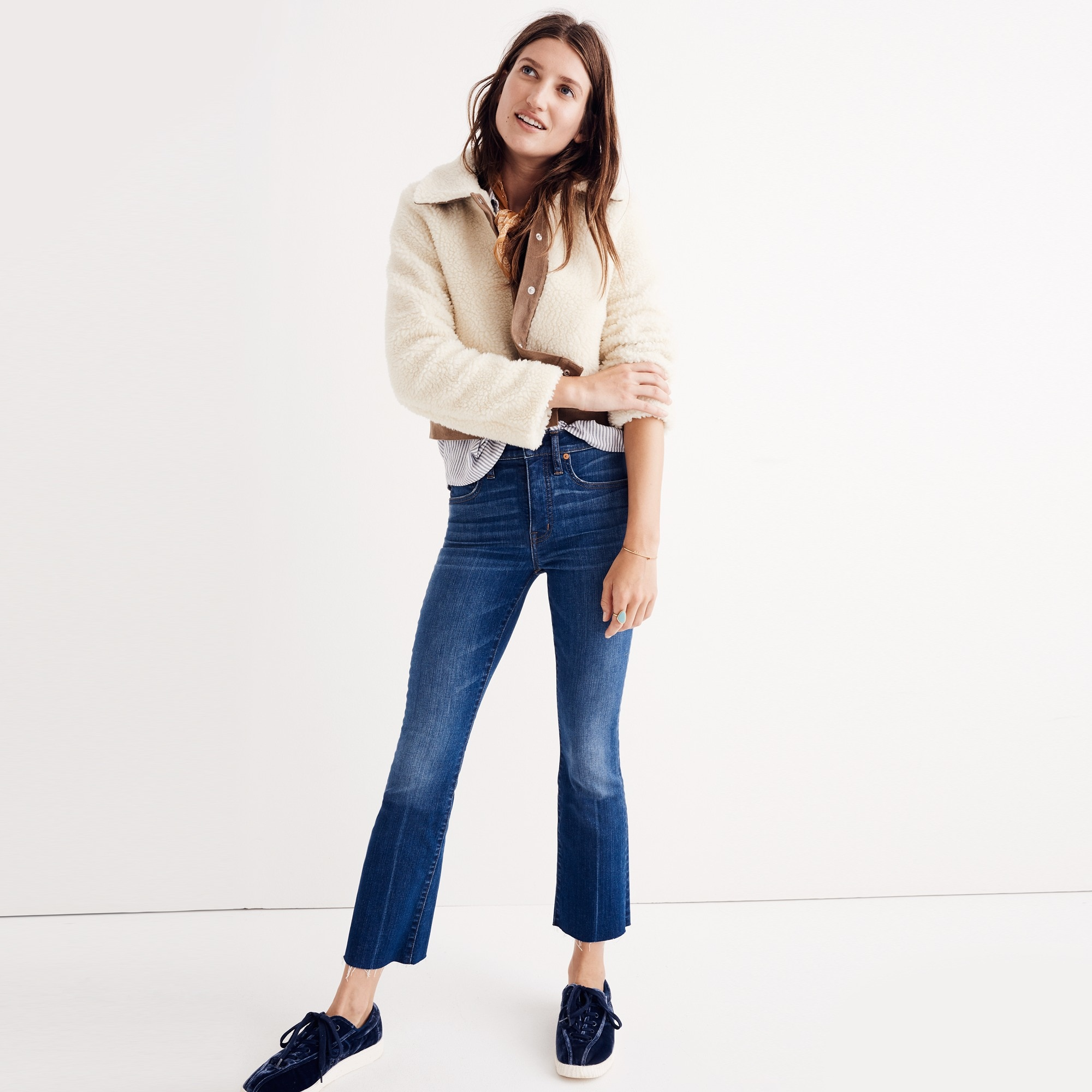 Madewell Cali demi-boot jean: raw-hem edition