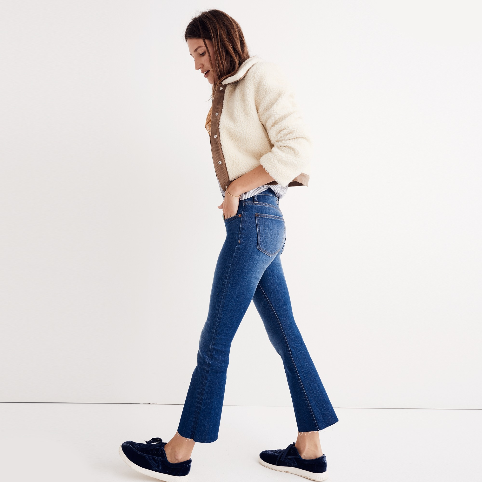 Image 1 for Madewell Cali demi-boot jean: raw-hem edition