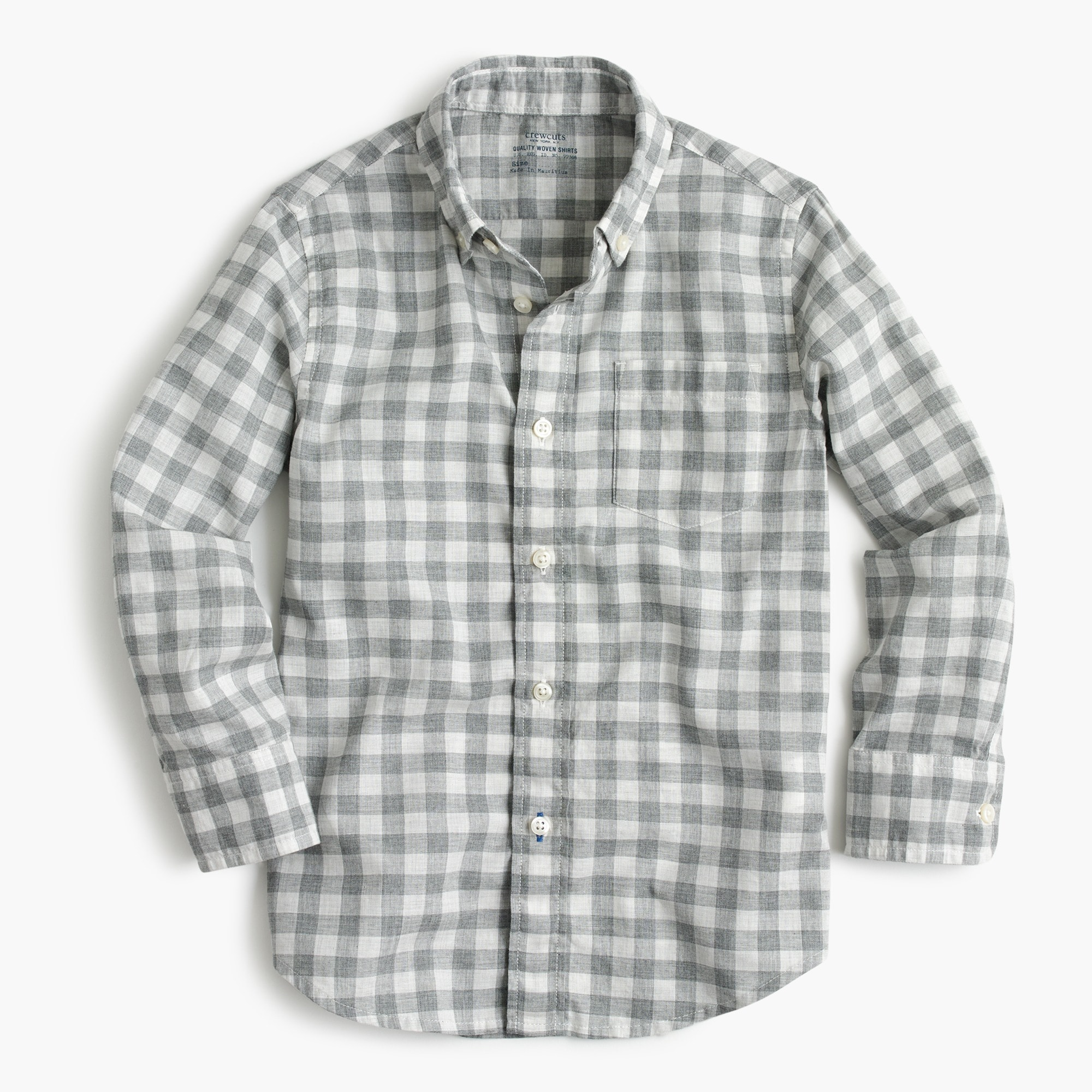 Kids' Secret Wash shirt in heathered gingham