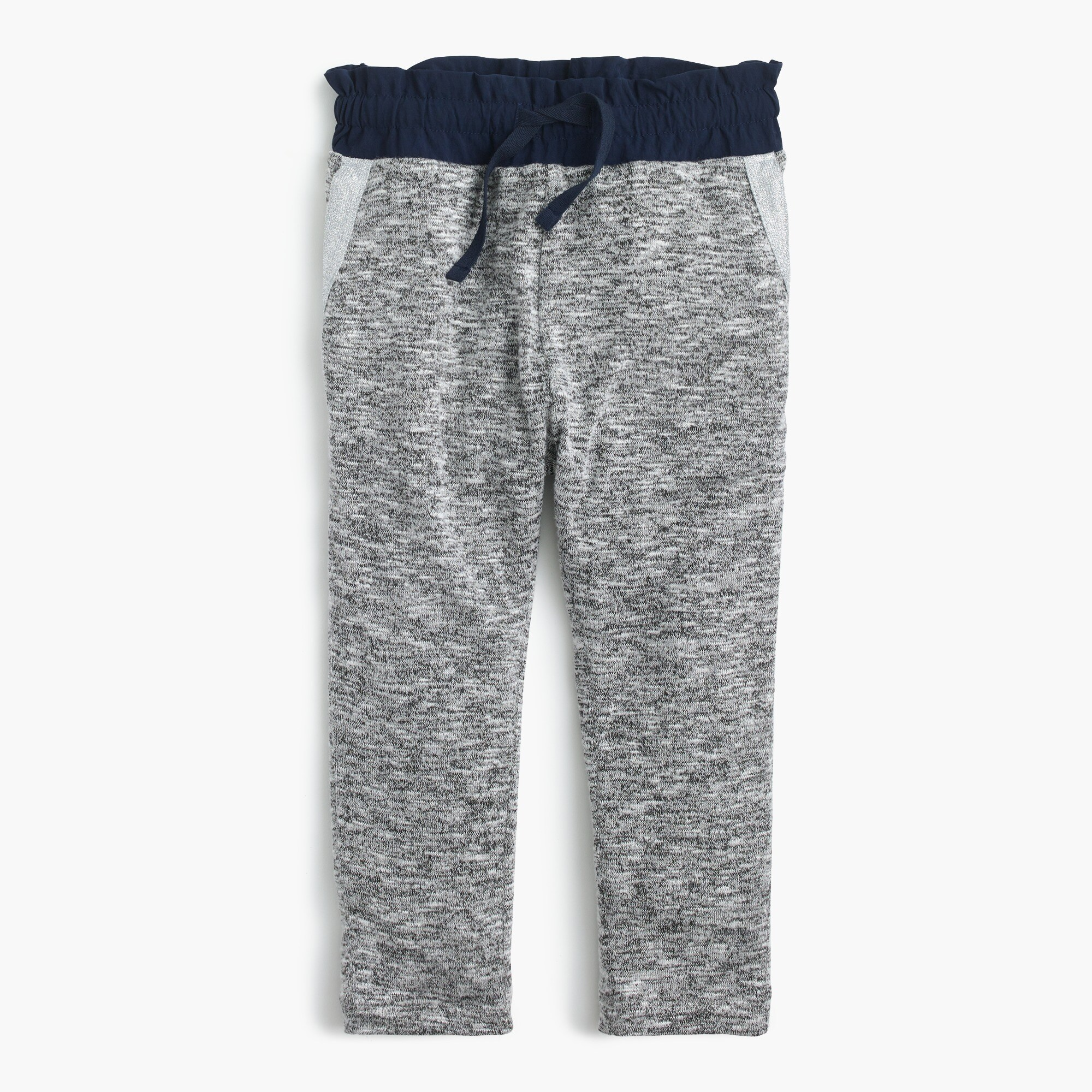 Girls' lightweight jersey sweatpants with contrast waistband