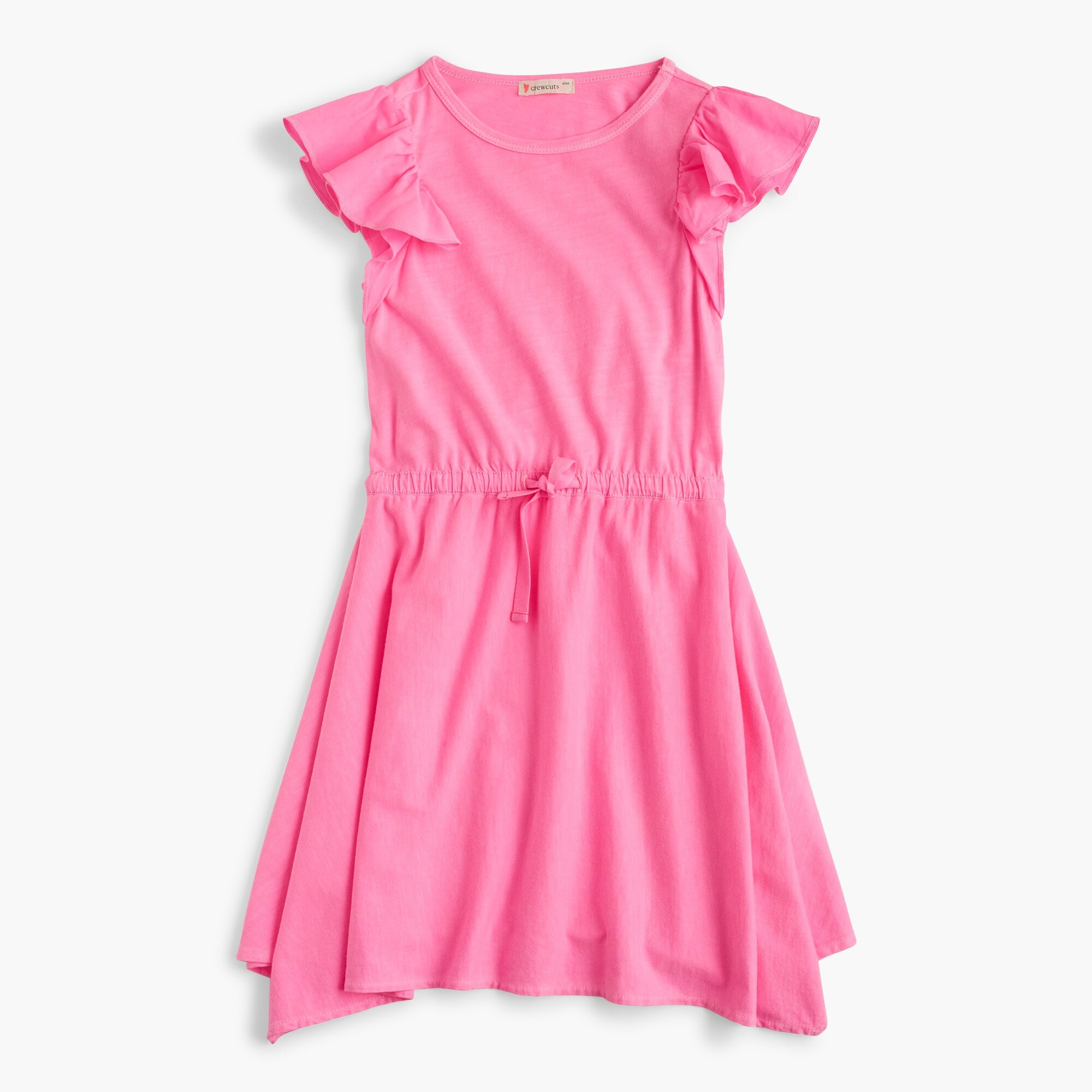 Girls' flutter-sleeve handkerchief dress