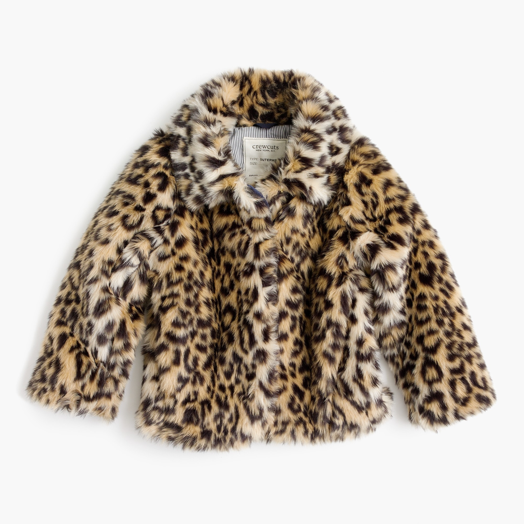 girls' leopard-fur coat : girl novelty coats
