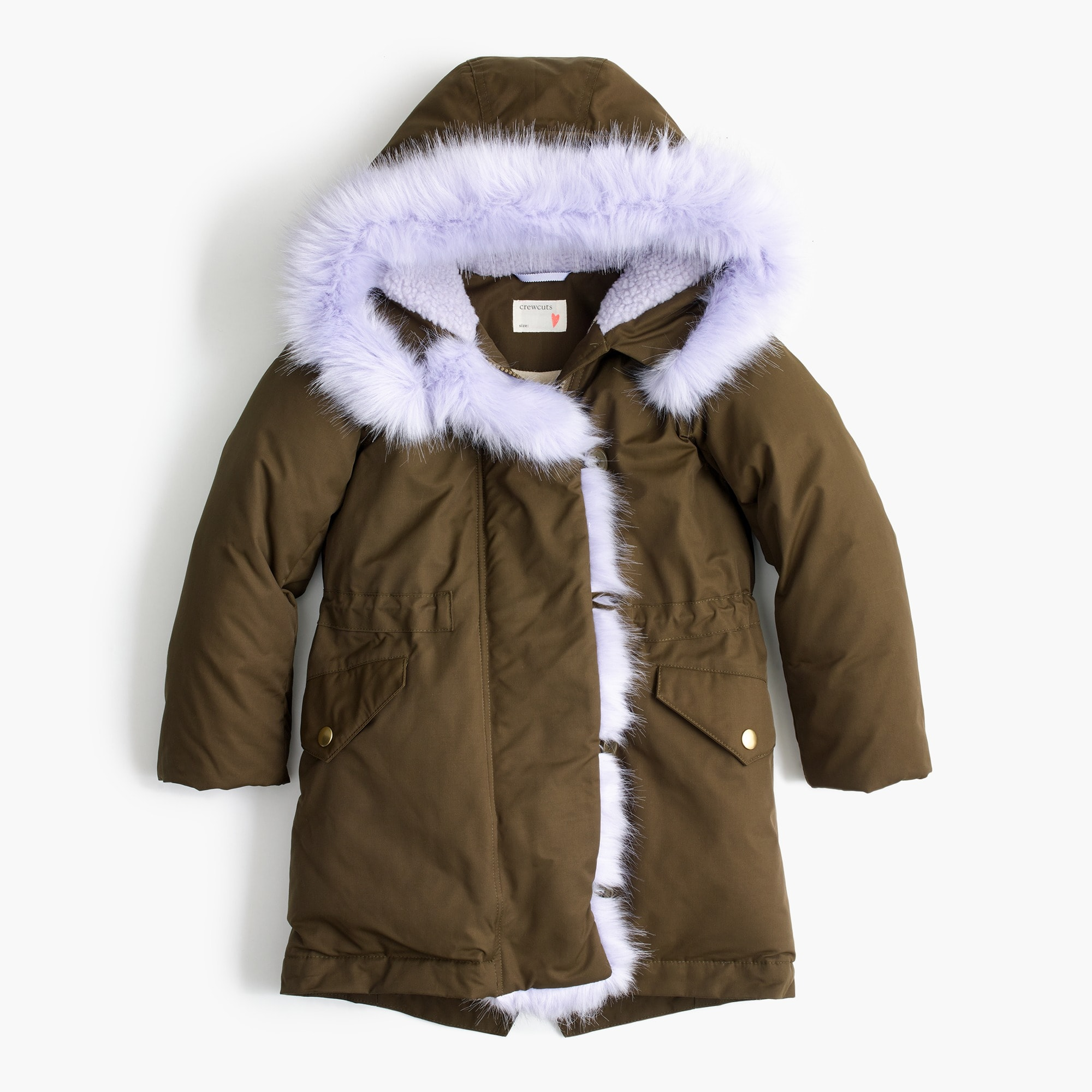 Girls' fur-lined anorak