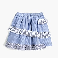 Girls' mixed-stripe skirt