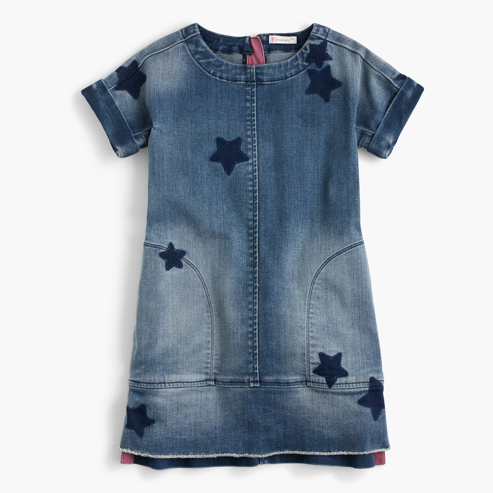 Girls' denim dress in star print girl new arrivals c
