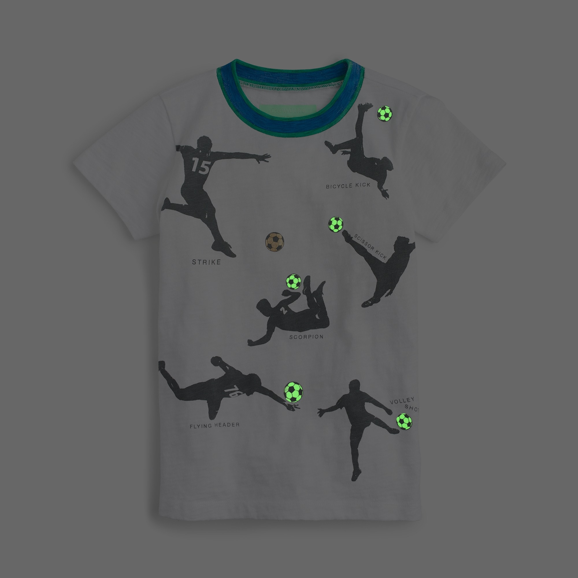 Boys' glow-in-the-dark soccer T-shirt