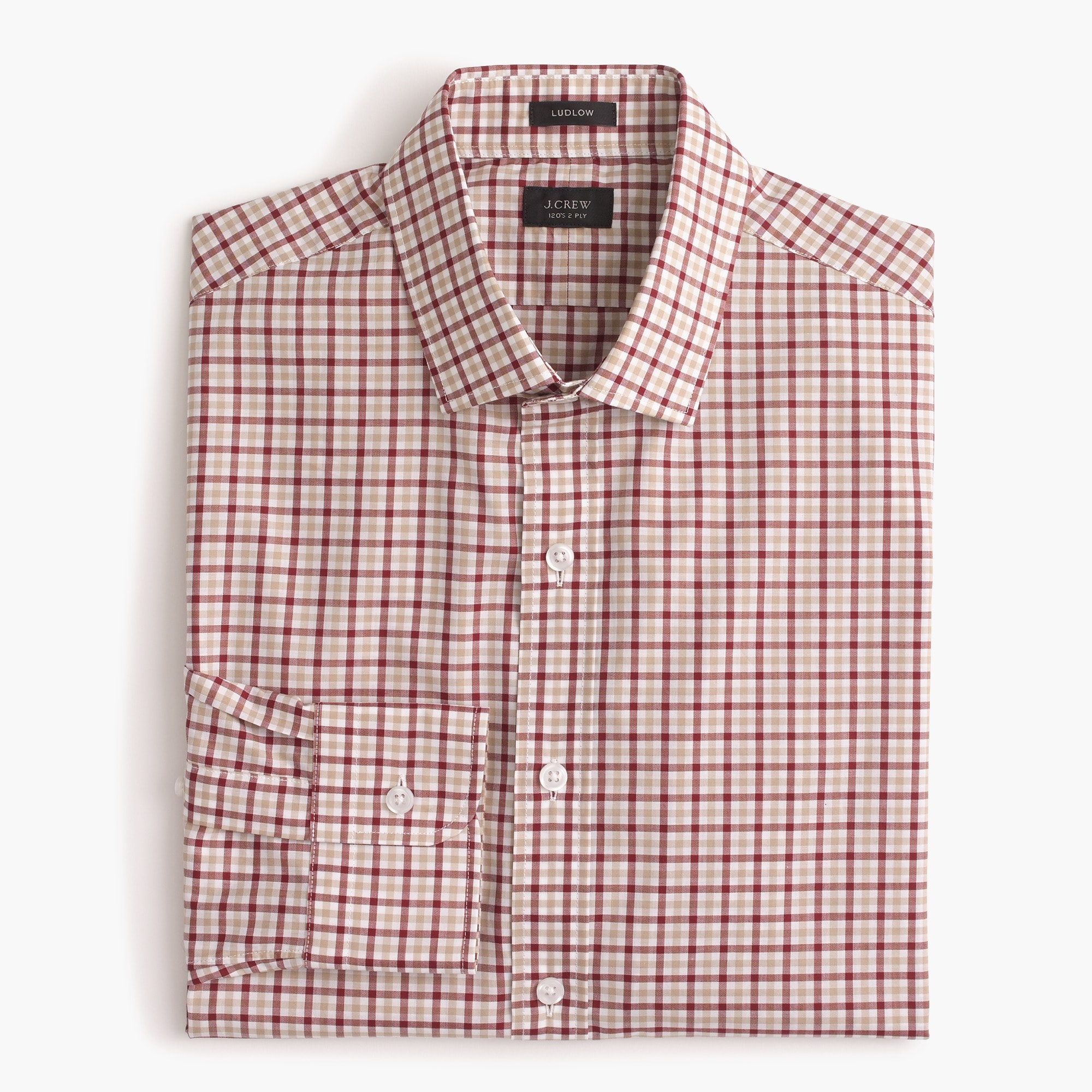 Ludlow shirt in small tattersall