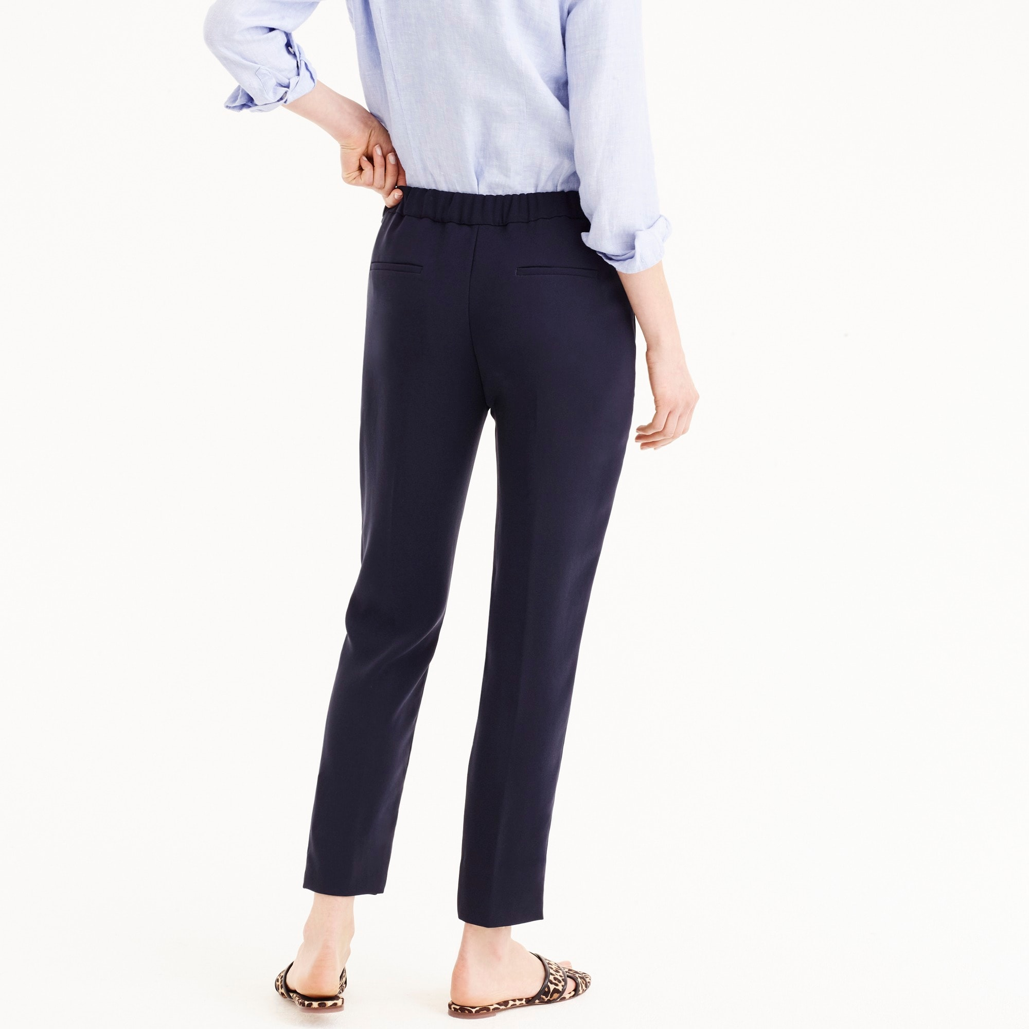 Tall pull-on easy pant in matte crepe
