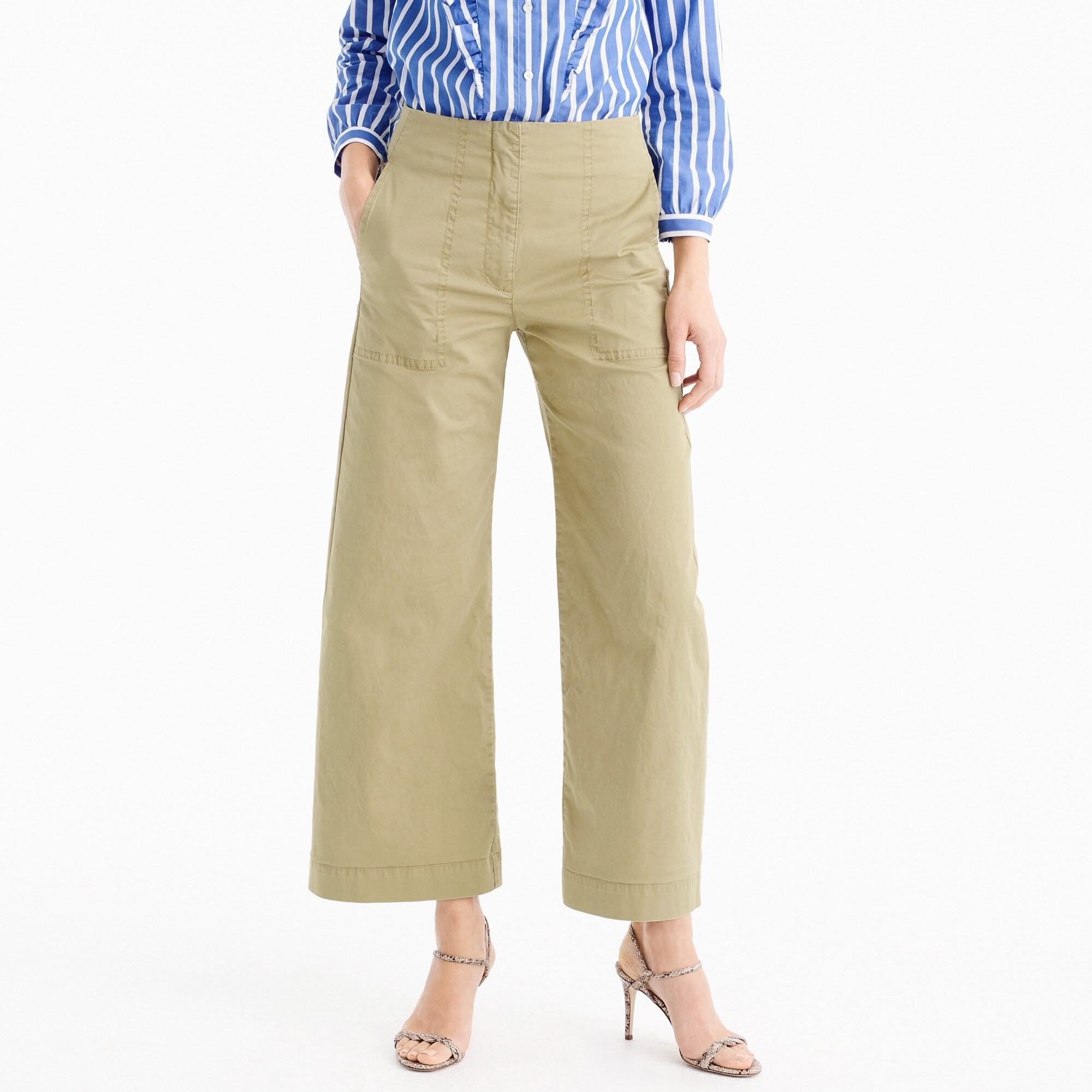 Cropped pant in stretch chino