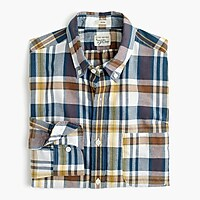 Indian madras shirt in sea salt plaid