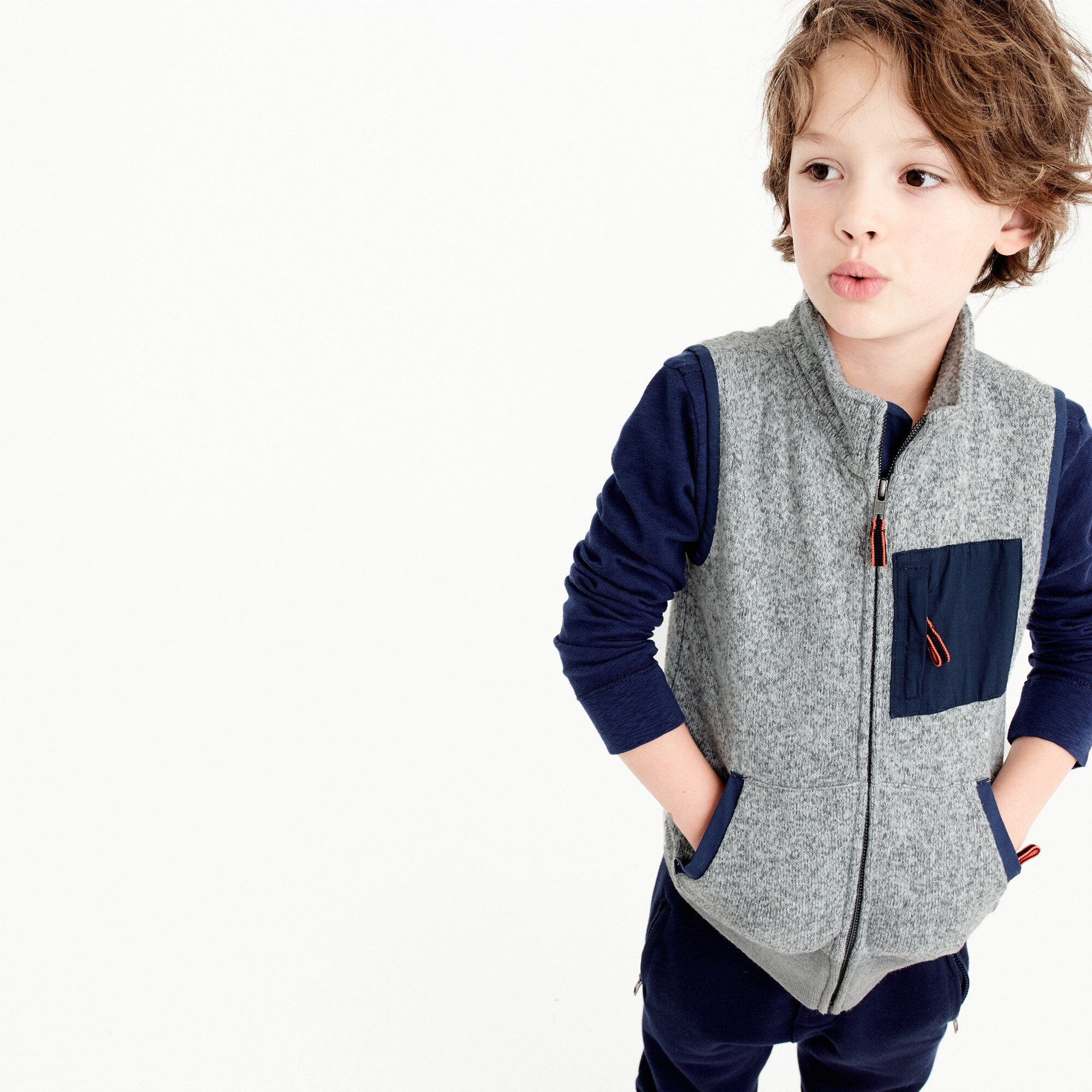 boys' summit fleece vest : boy coats & jackets
