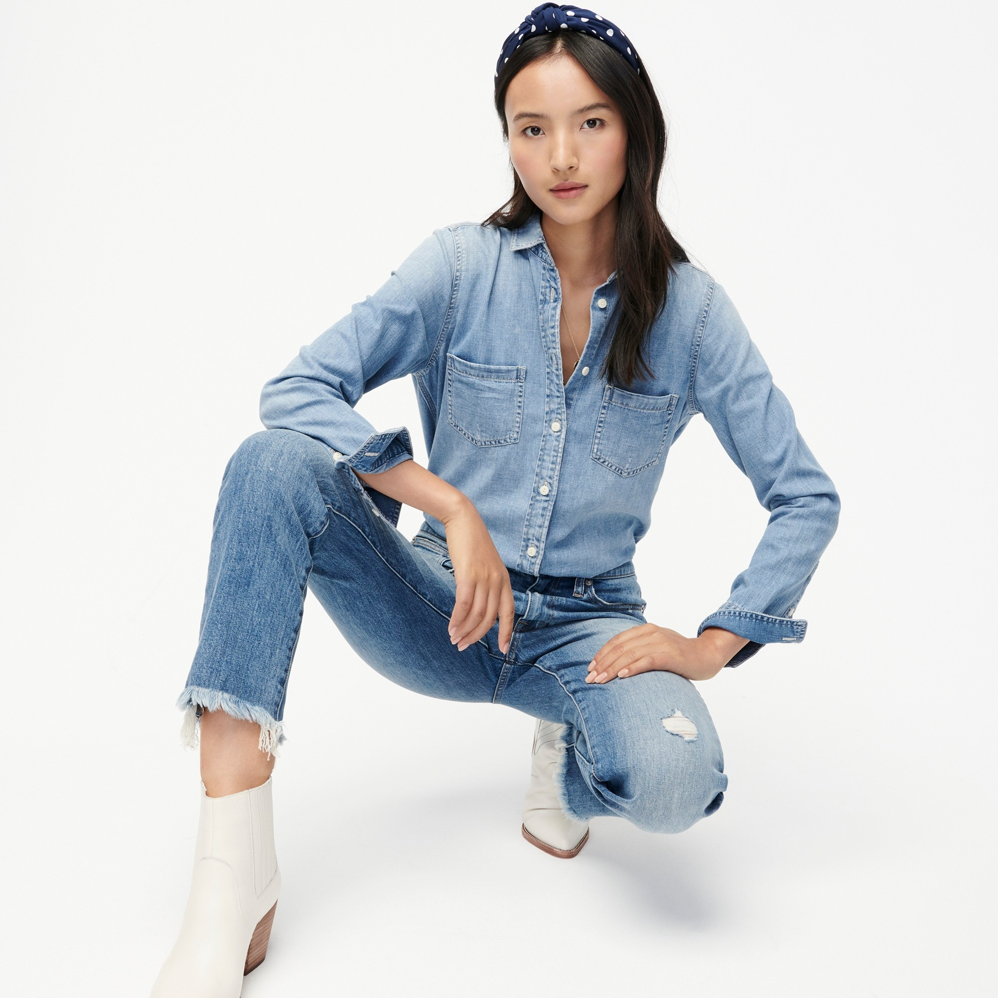 Tall everyday chambray shirt