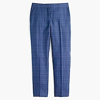 Petite Paley pant linen wool plaid