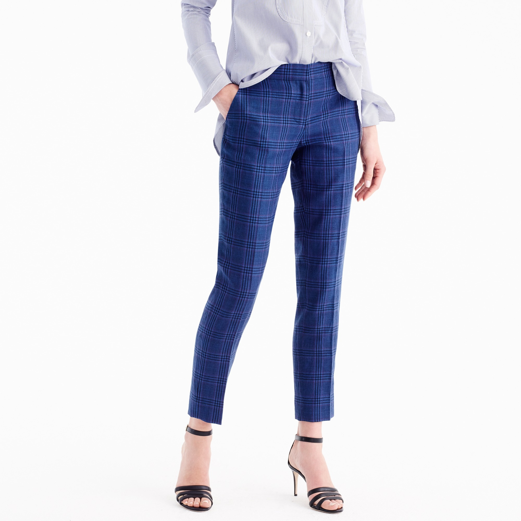 Paley pant linen wool plaid