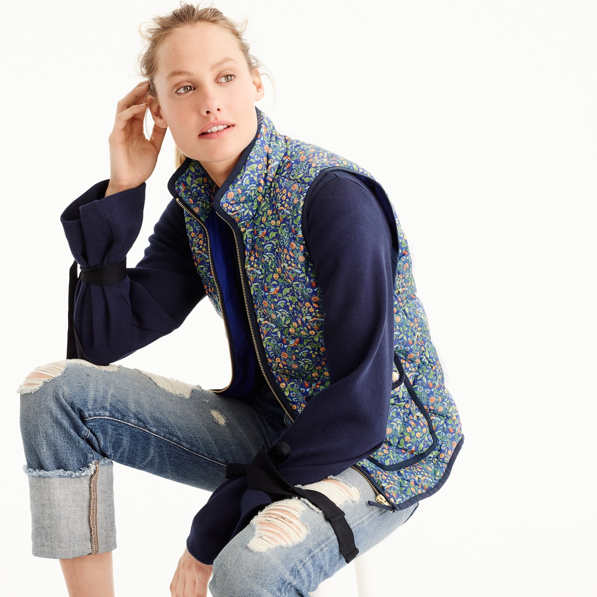Excursion vest in Liberty® Catesby floral