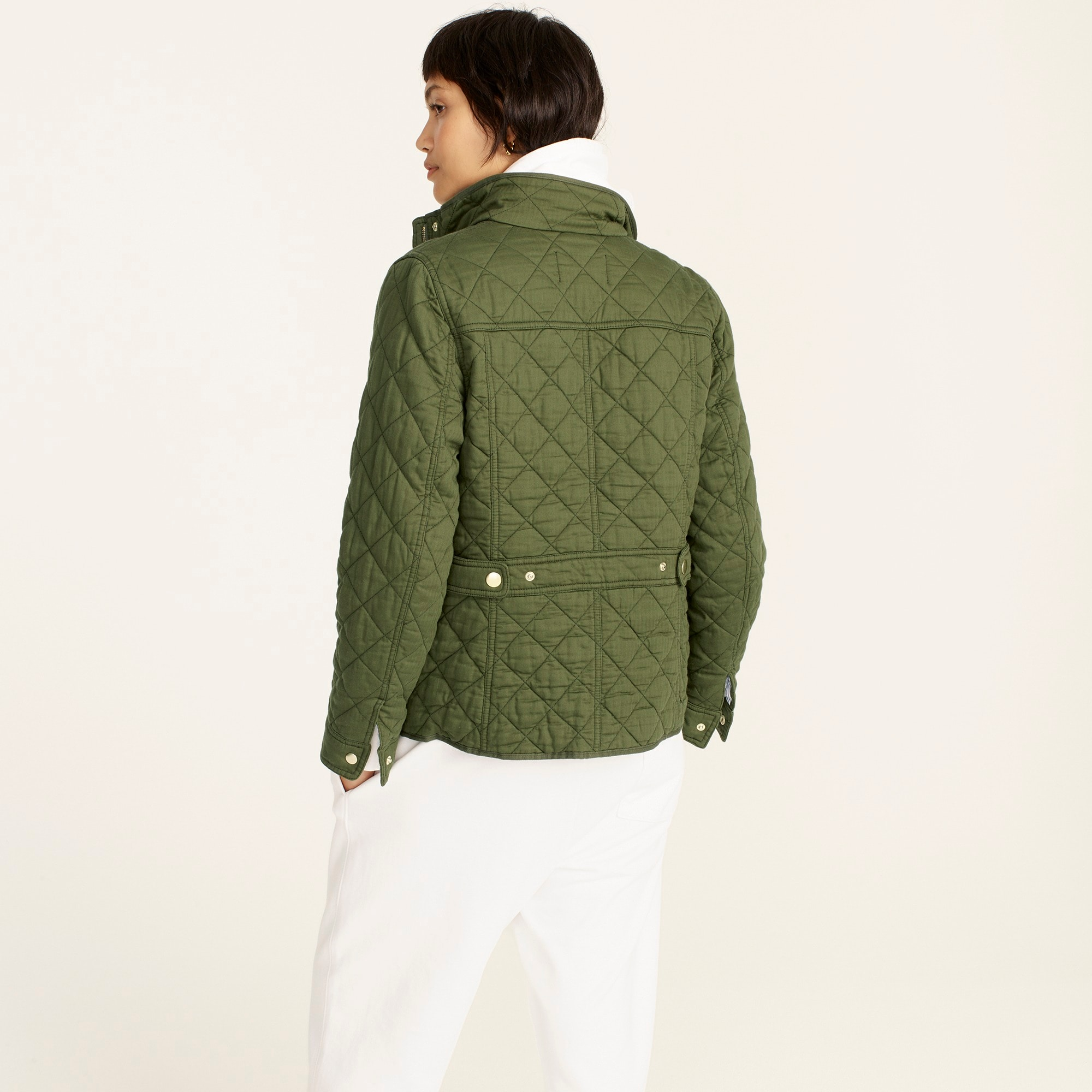 Petite quilted downtown field jacket