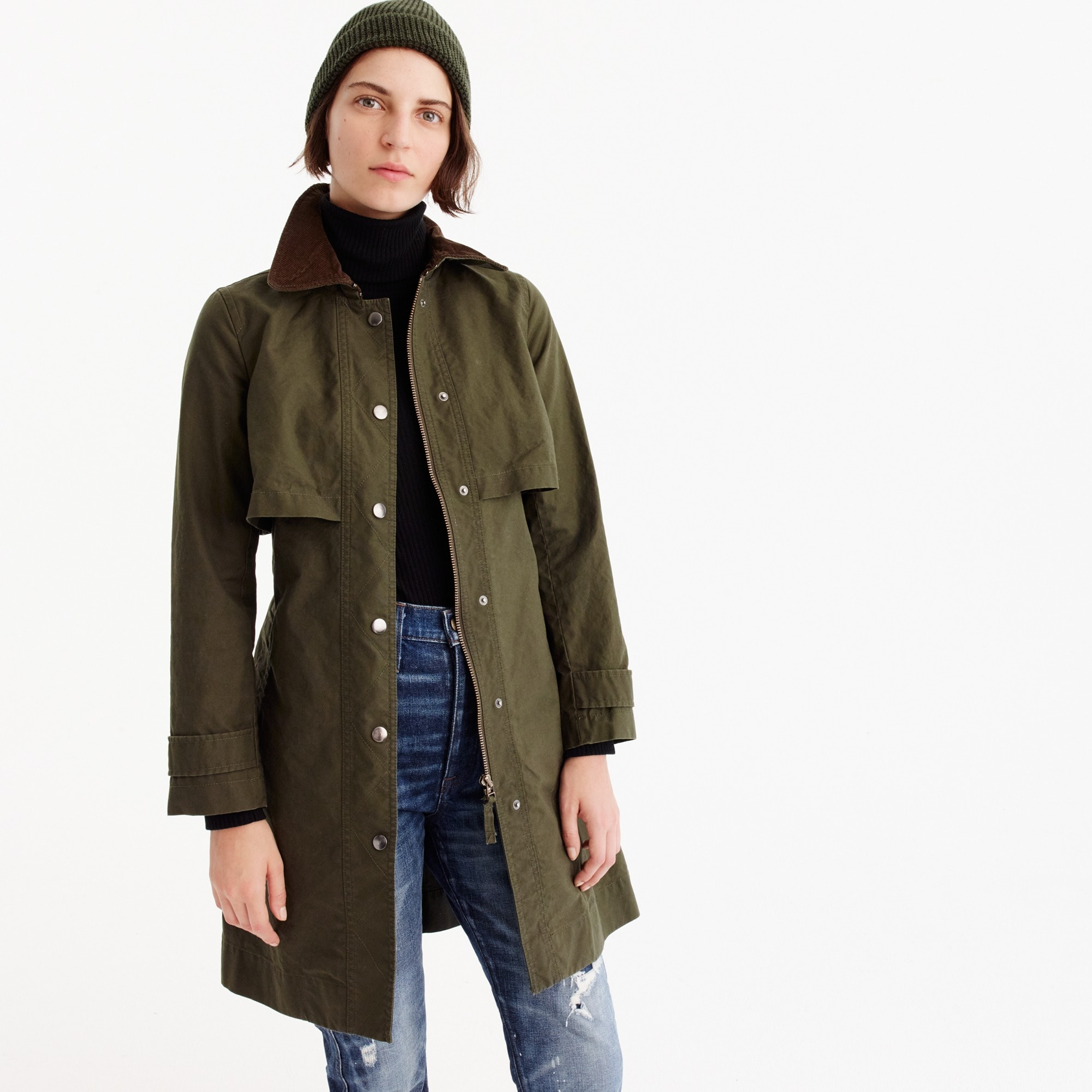Tall field trench coat
