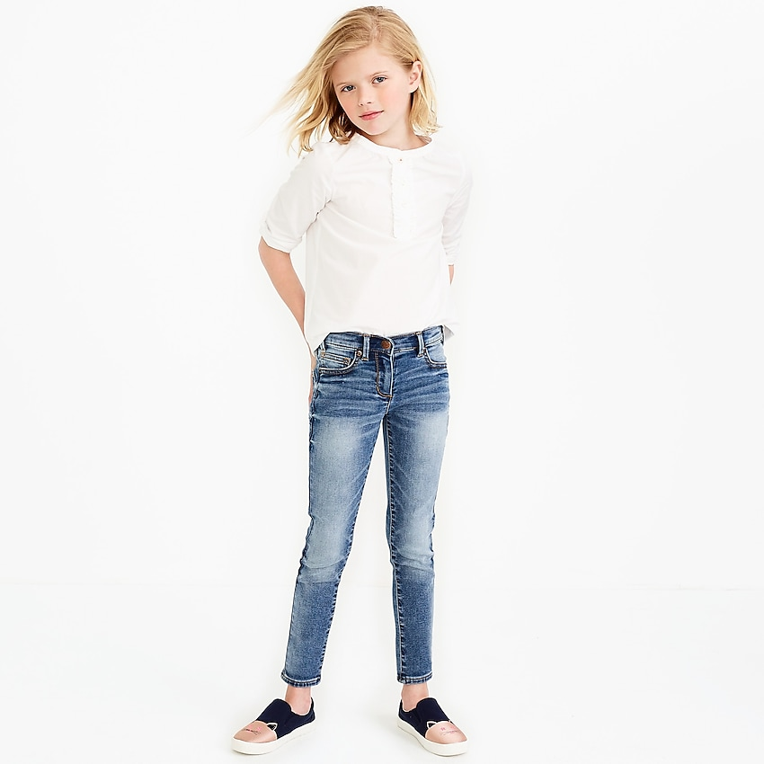 j.crew factory: girls' anywhere jean, right side, view zoomed