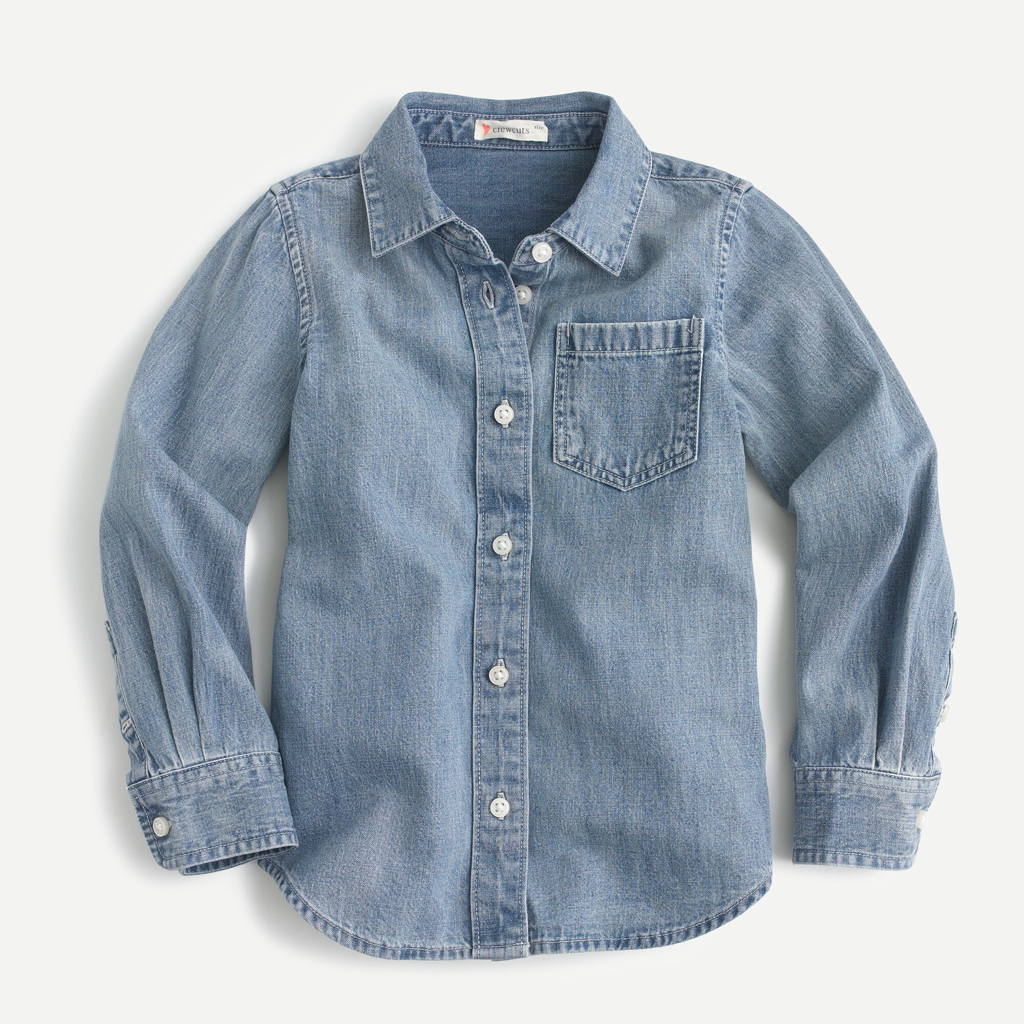 girls' 365 chambray shirt - girls' tees