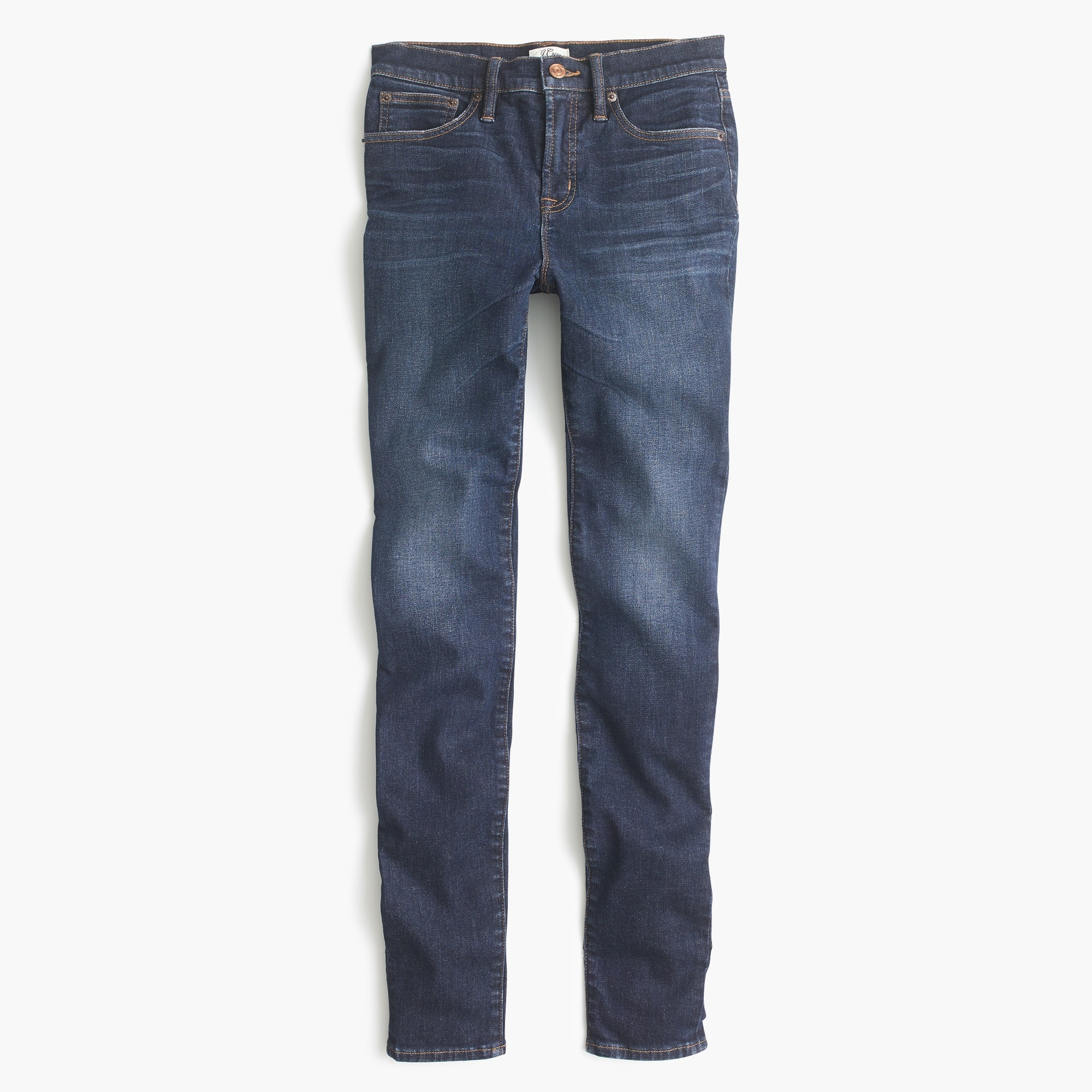 "Image 1 for 9"" high-rise stretchy toothpick jean in Solano wash"