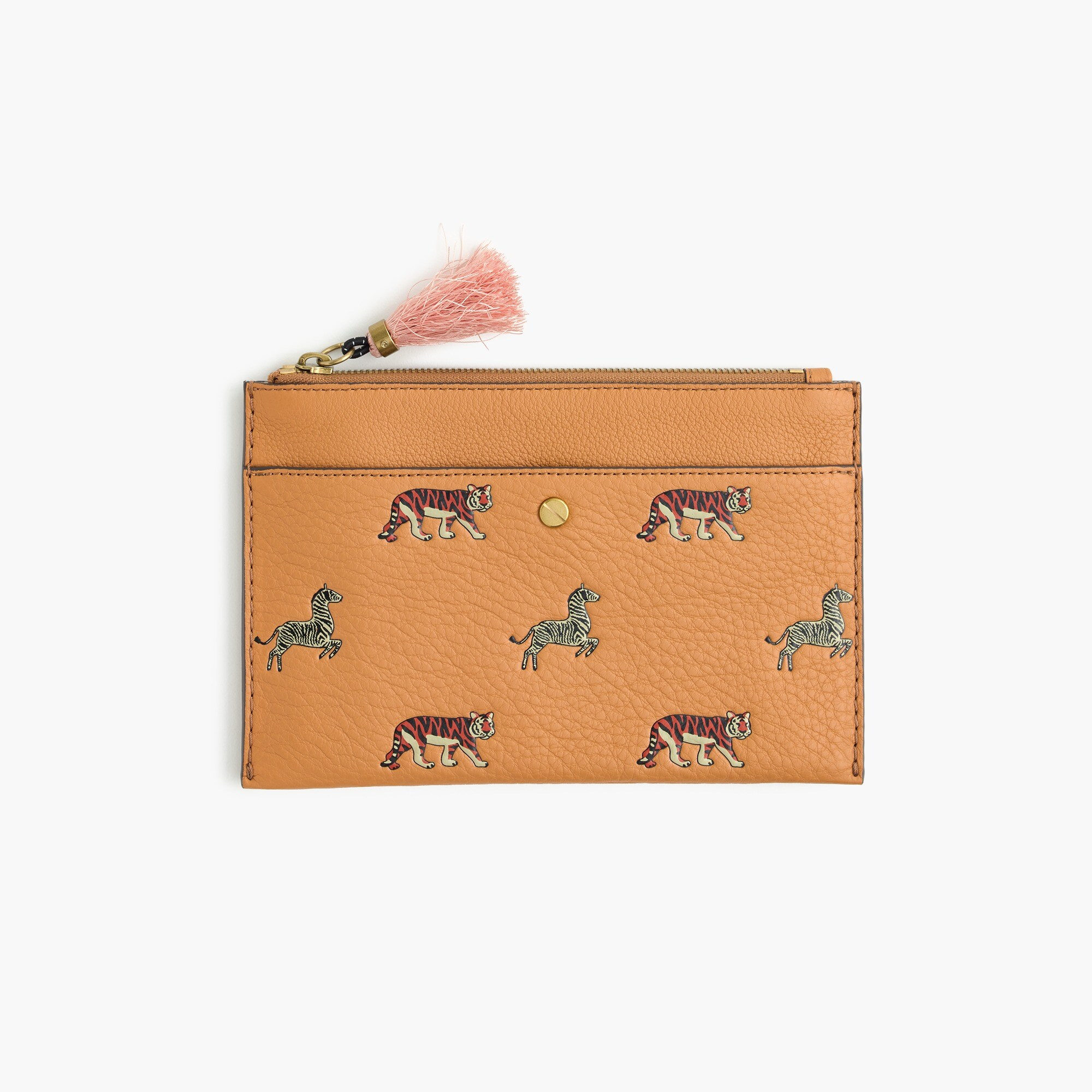 medium pouch in embossed animal print : women small leather goods