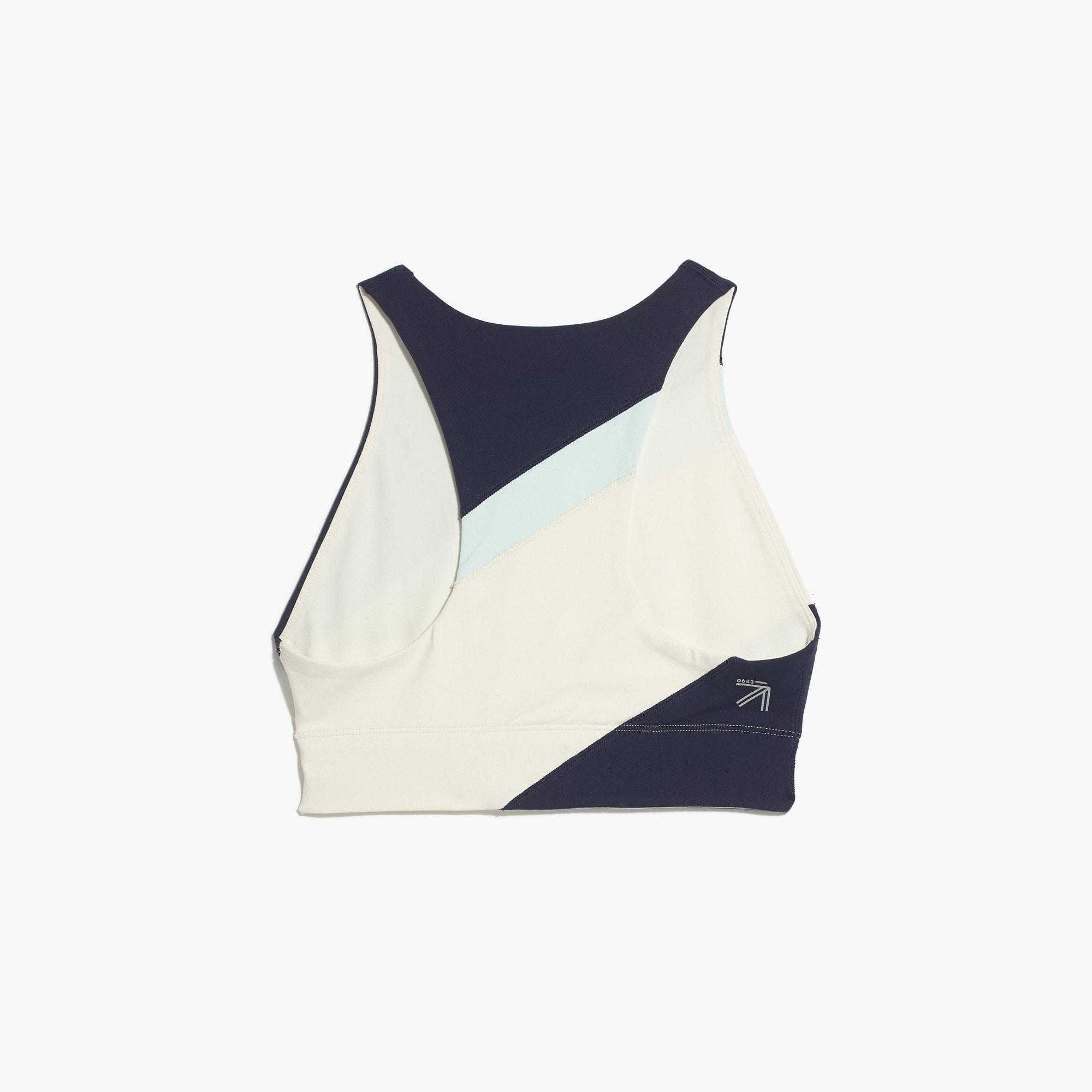 Image 3 for New Balance® for J.Crew performance crop top in striped colorblock