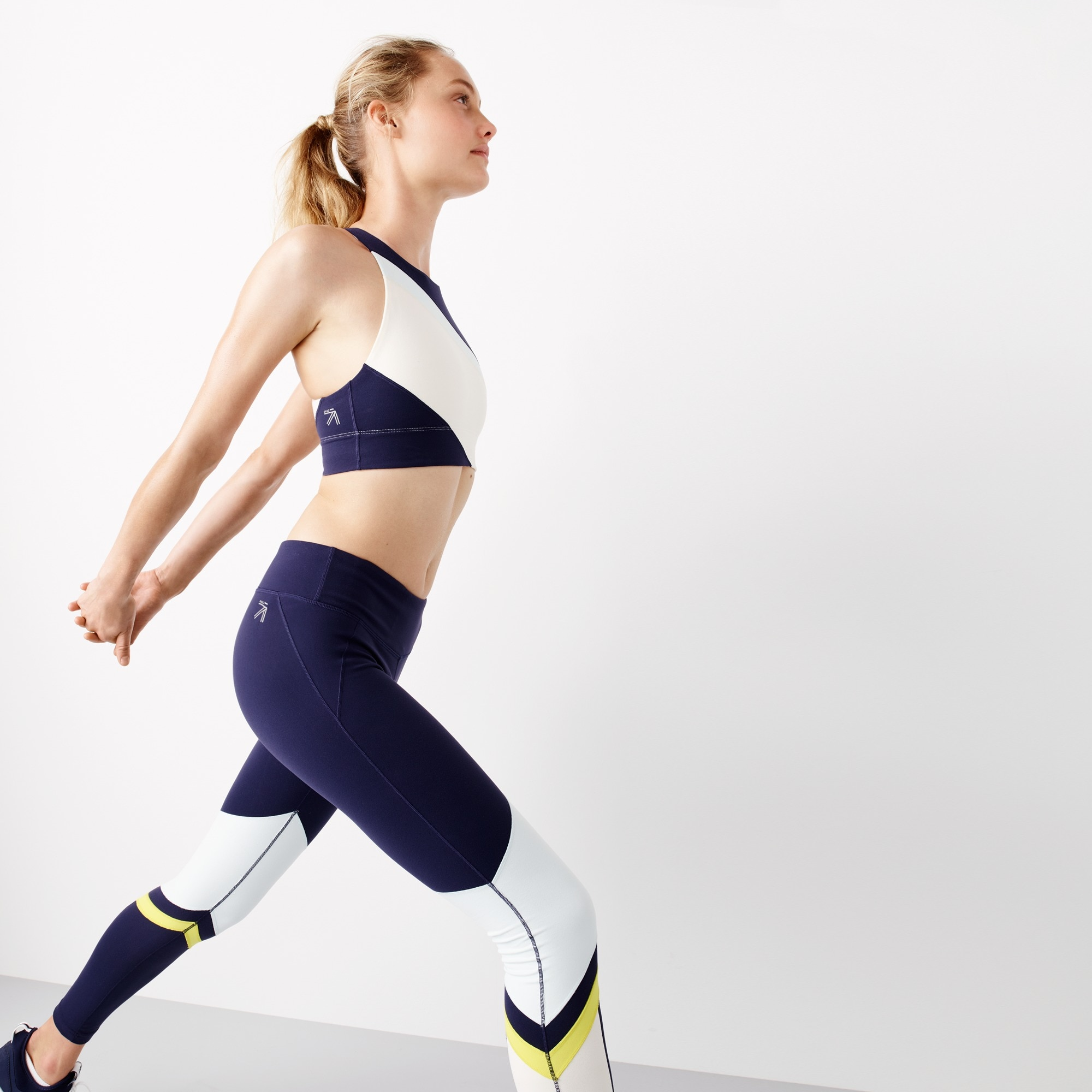 Image 1 for New Balance® for J.Crew performance crop top in striped colorblock