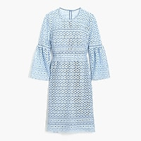 Petite bell-sleeve daisylace dress