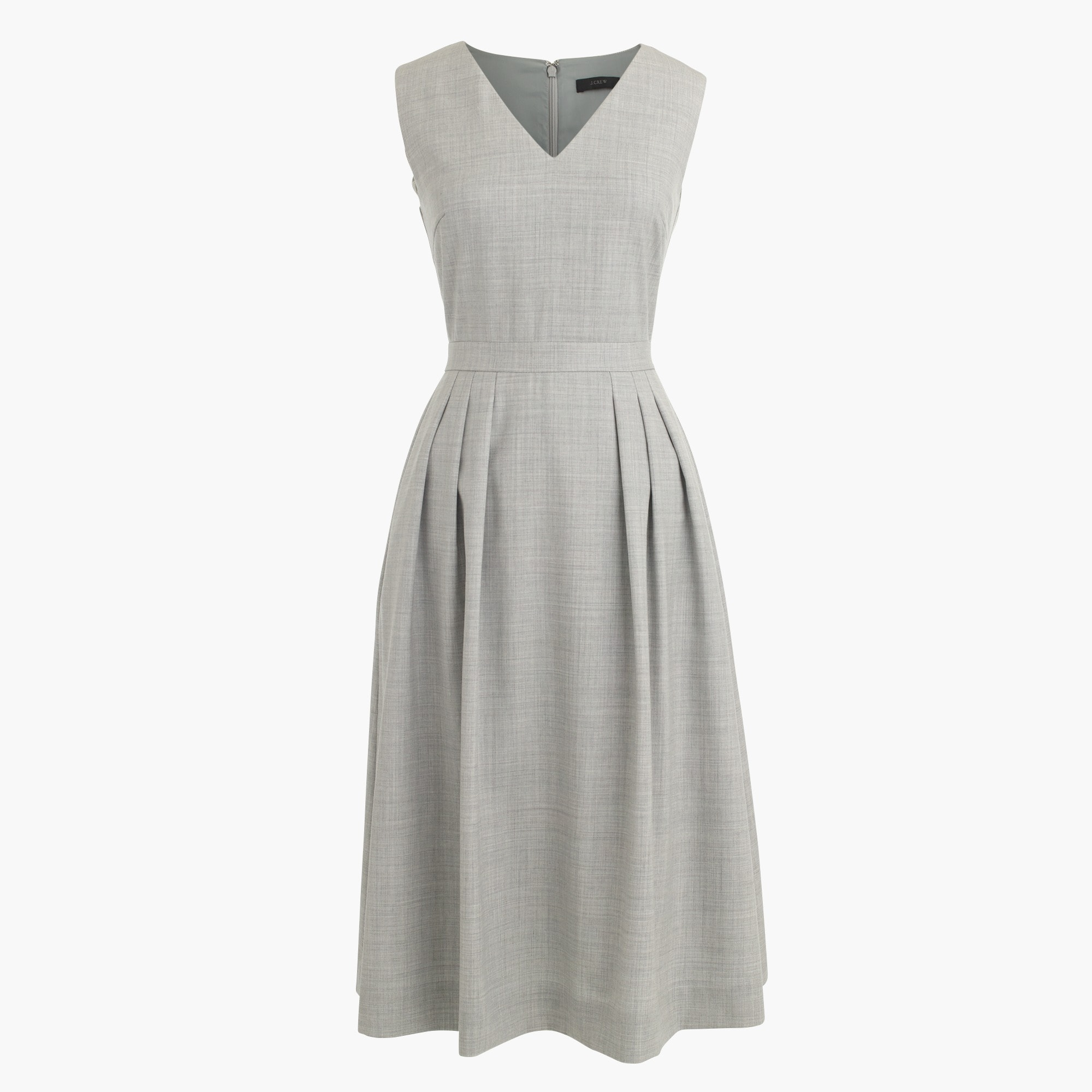 Tall V-neck dress in Super 120s wool