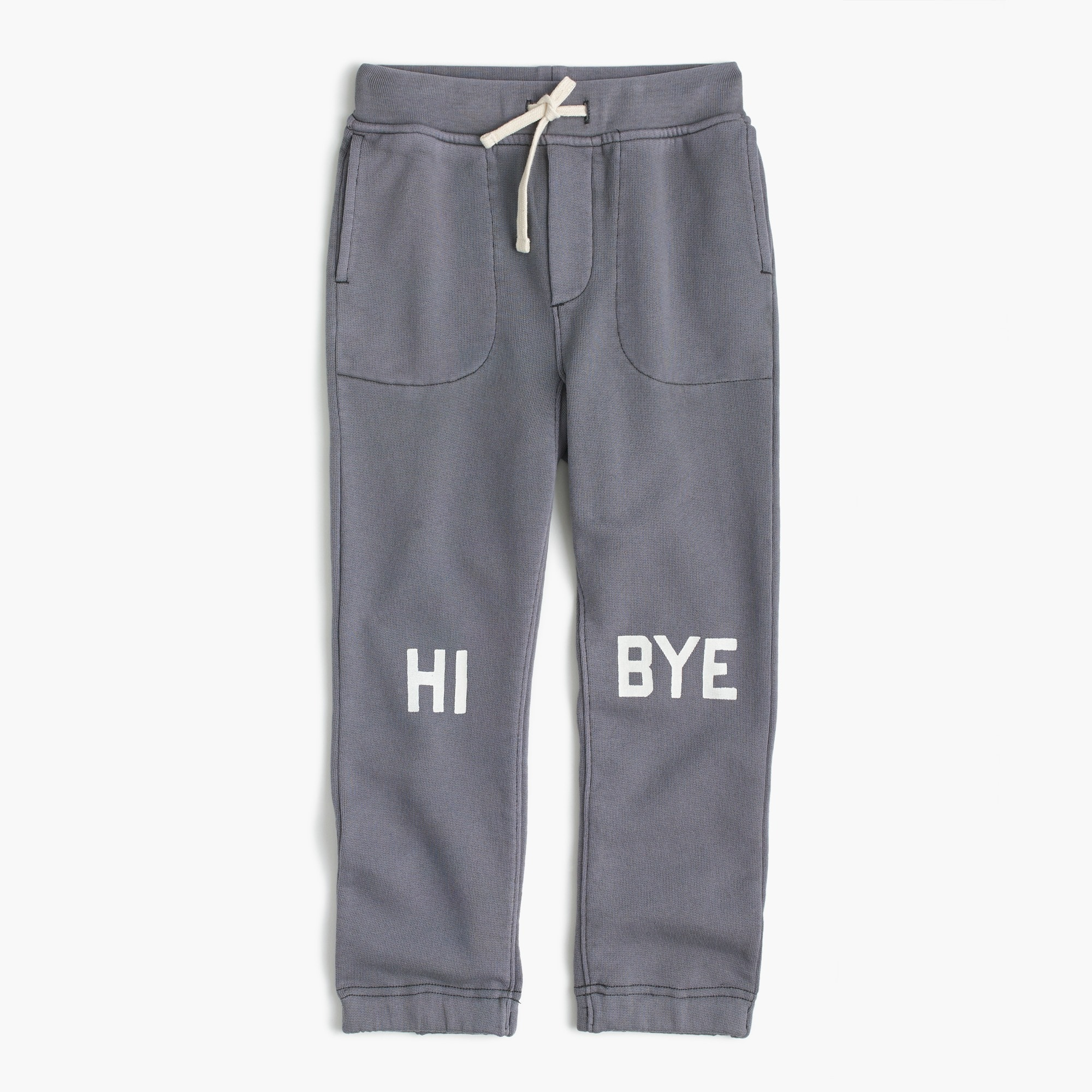 "Boys' glow-in-the-dark ""hi, bye"" sweatpant in classic fit"