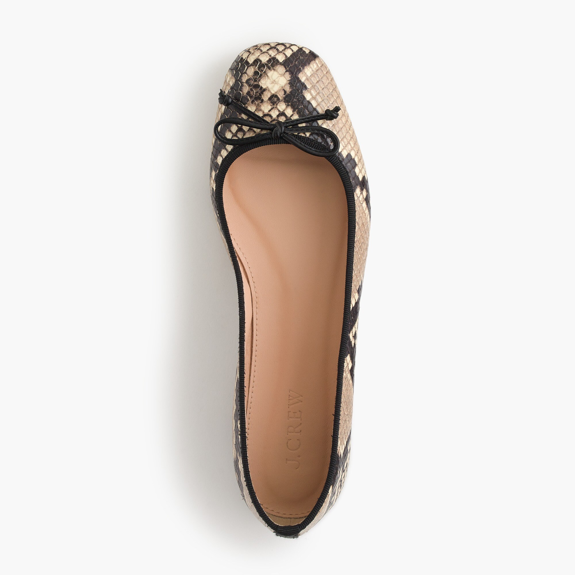 Image 2 for Lily ballet flats in snakeskin-printed leather