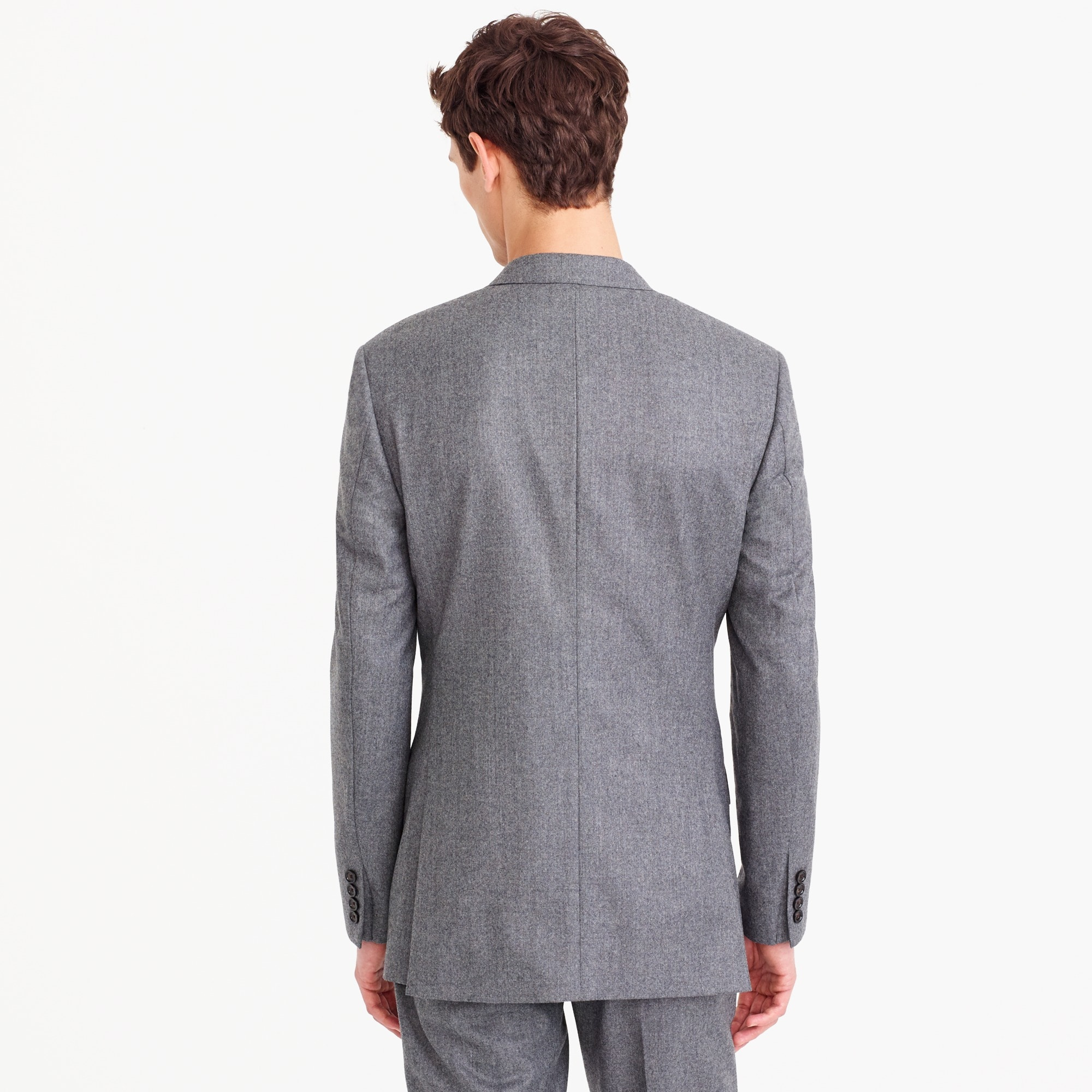 Image 3 for Ludlow Slim-fit wide-lapel suit jacket in Italian wool flannel