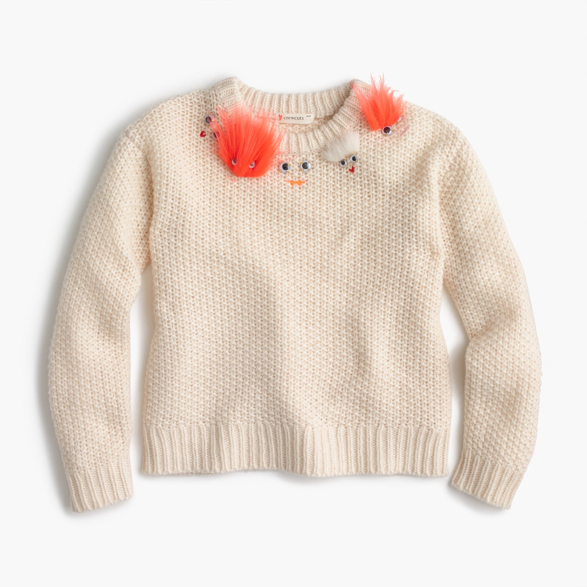 Girls' fuzzy Max the Monster popover sweater