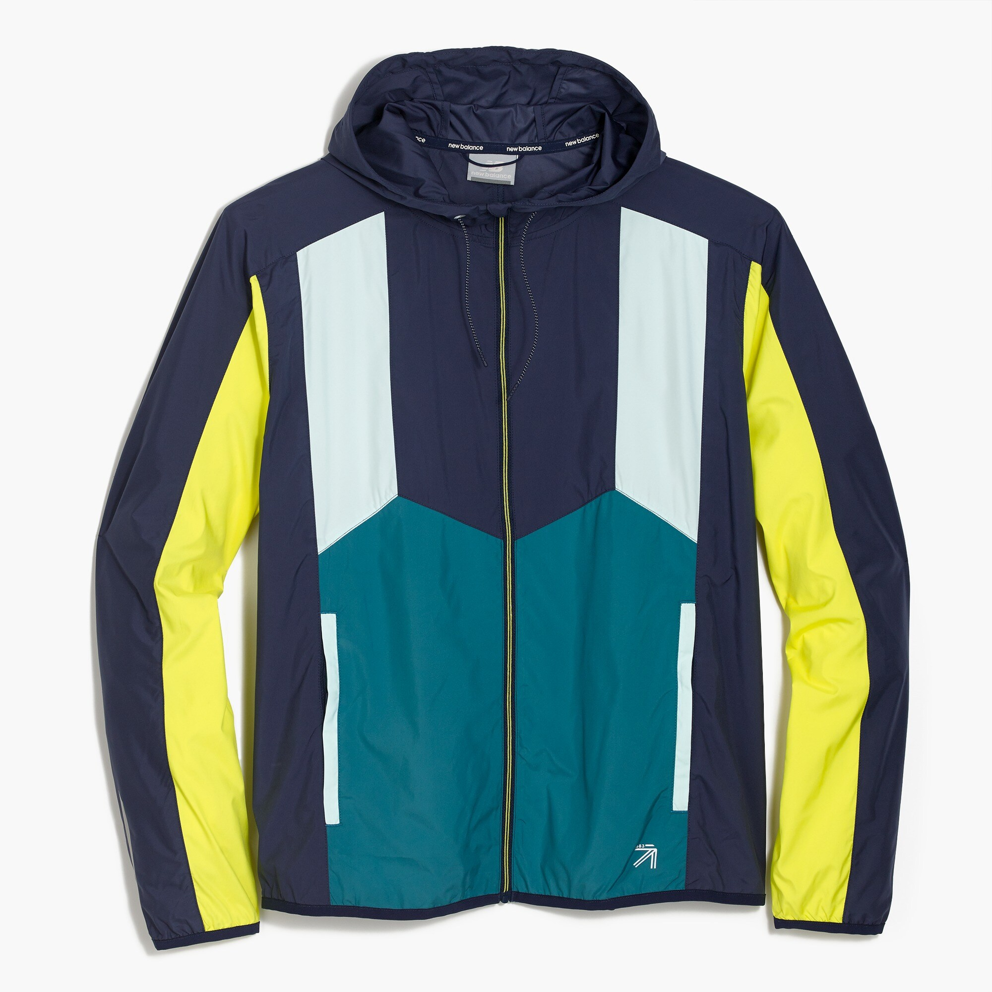 New Balance® for J.Crew colorblock windbreaker jacket