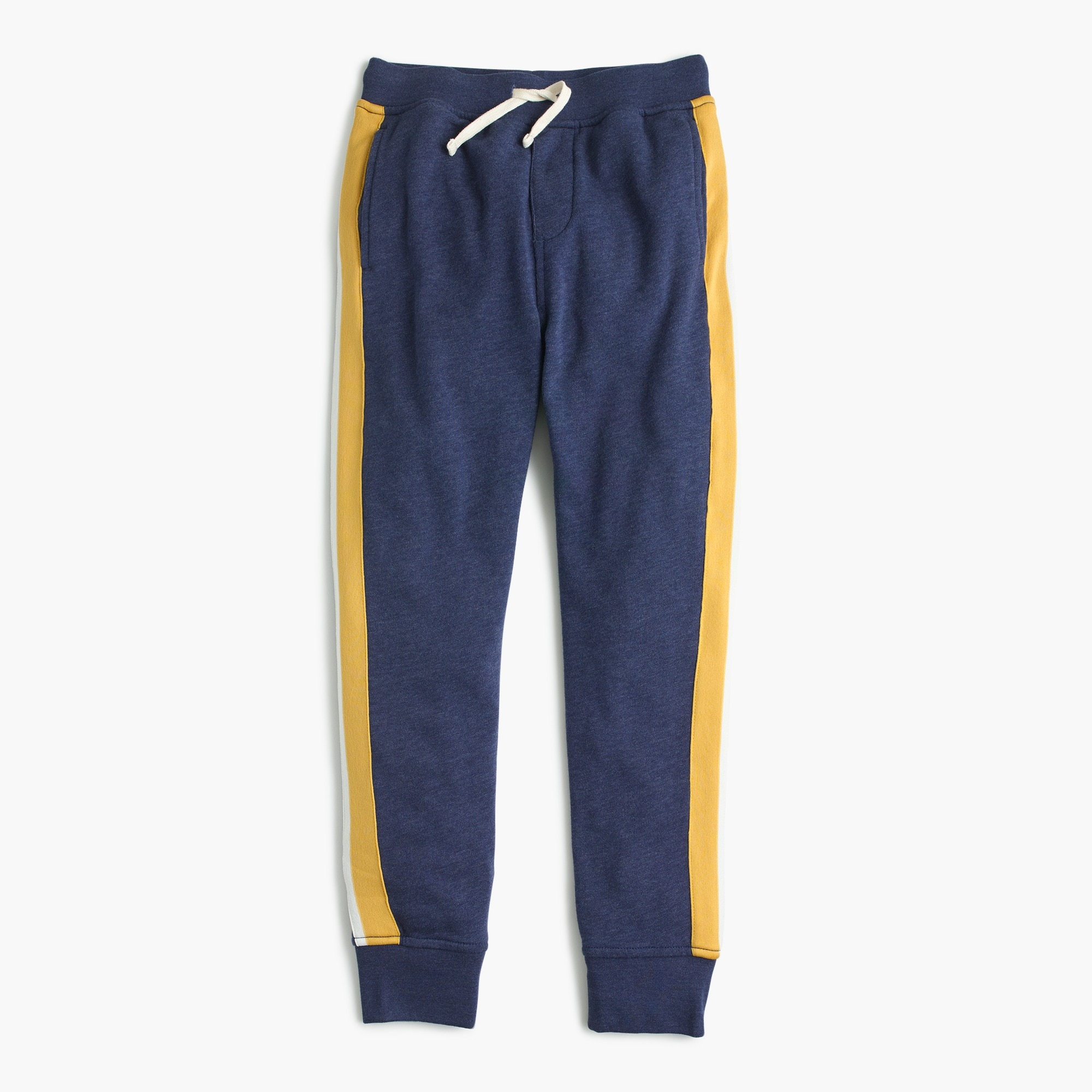 Boys' vintage-stripe sweatpant in slim-slouchy fit