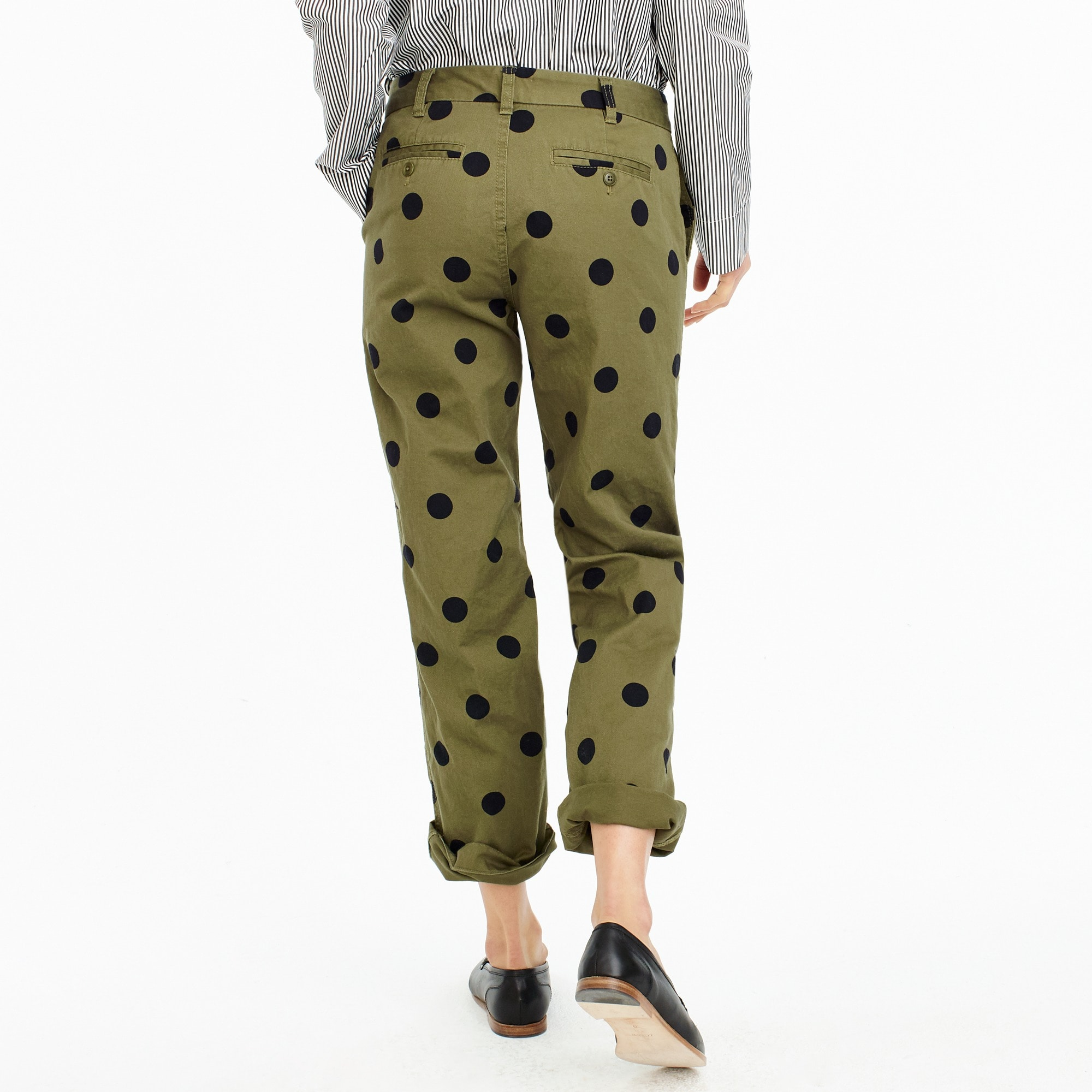 Image 3 for Tall boyfriend chino pant in polka dot
