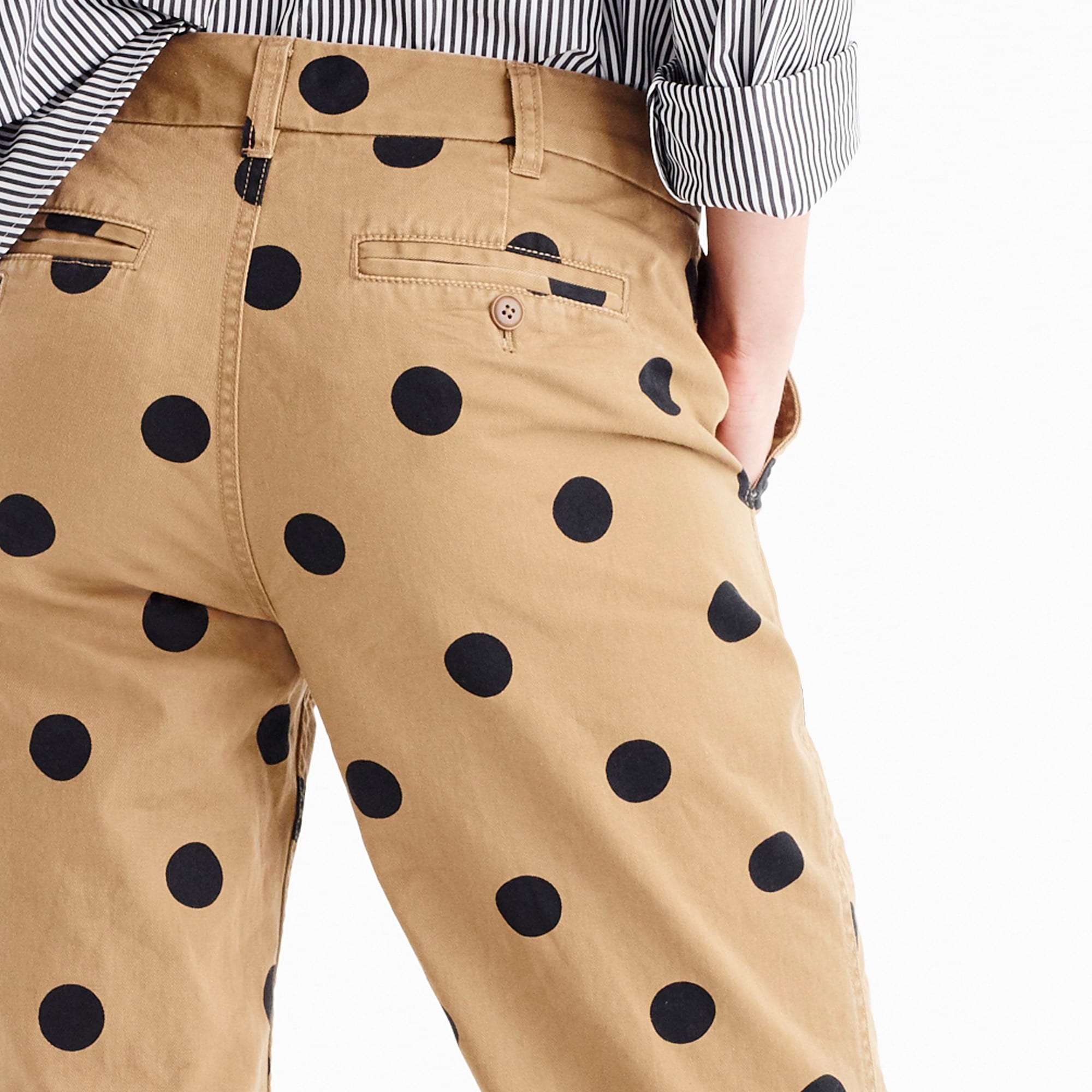 Image 4 for Tall boyfriend chino pant in polka dot