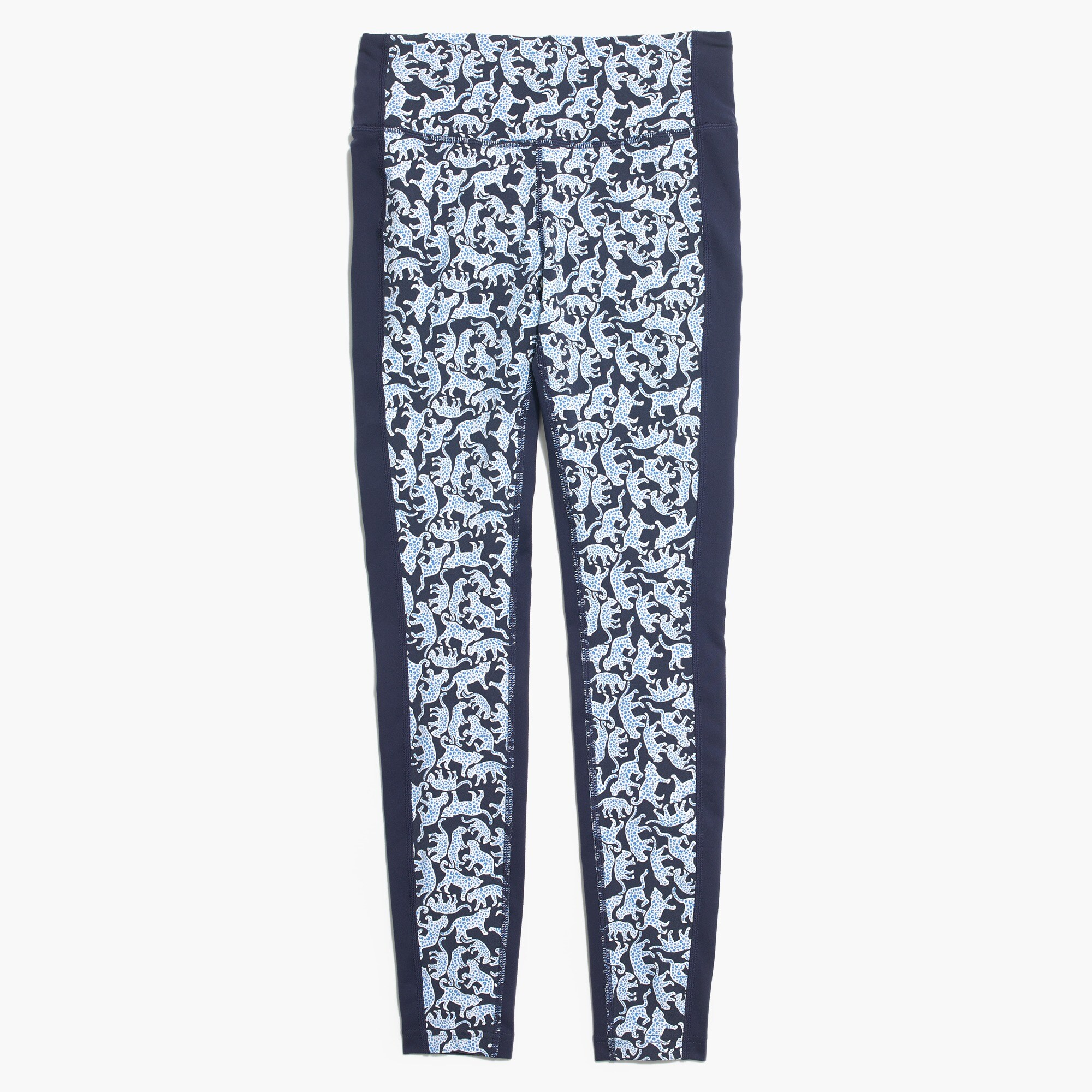 Image 1 for New Balance ® for J.Crew high waisted performance leggings in Drake's jaguar print