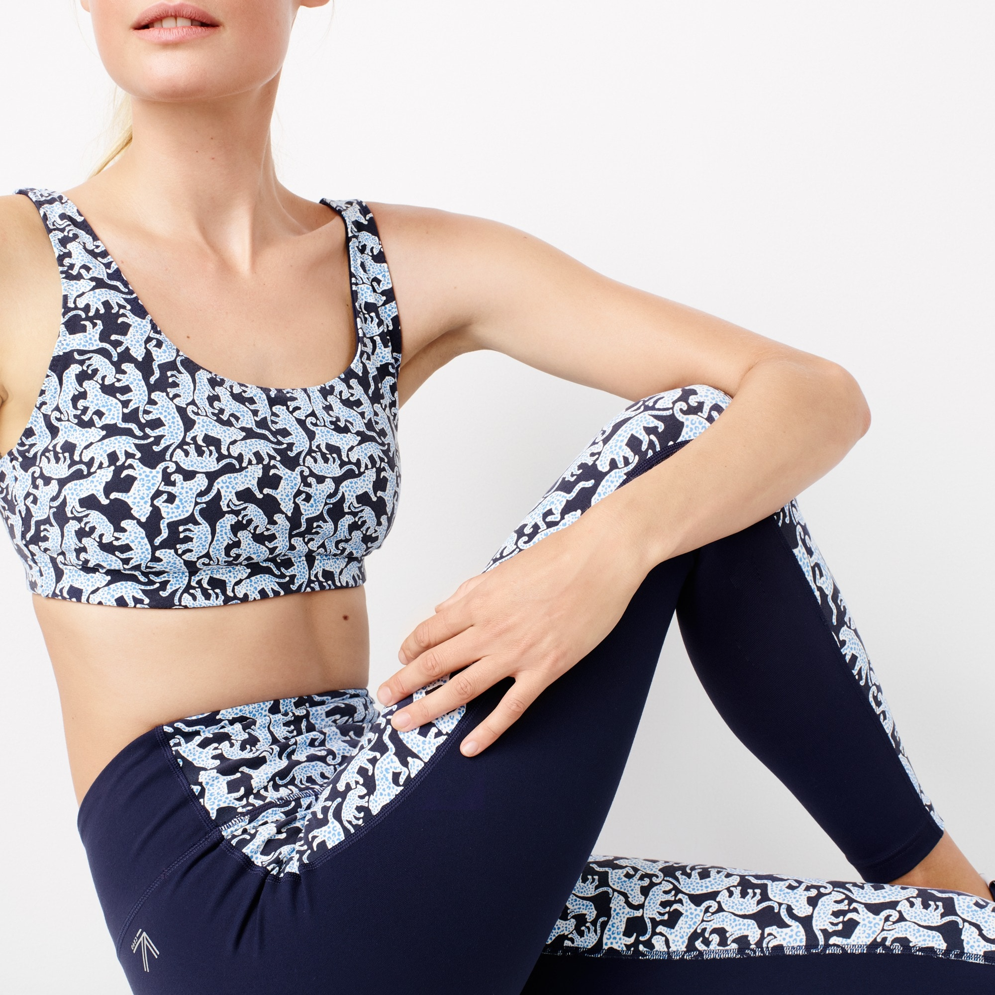 Image 4 for New Balance ® for J.Crew high waisted performance leggings in Drake's jaguar print