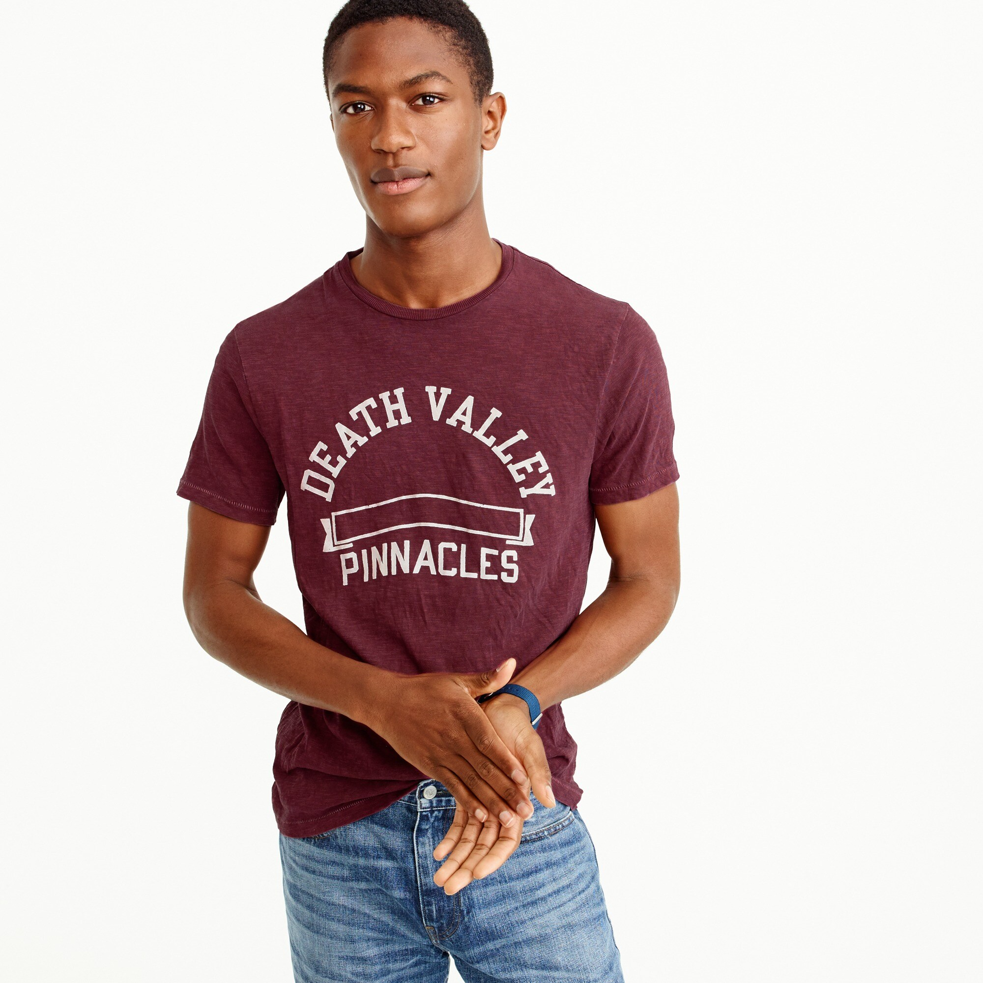 Image 2 for Garment-dyed Death Valley graphic T-shirt